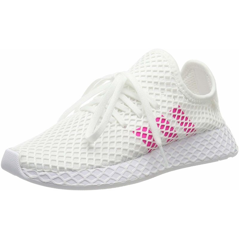 Details about adidas Originals Deerupt Runner J White/Shock Pink Mesh  Junior Trainers Shoes