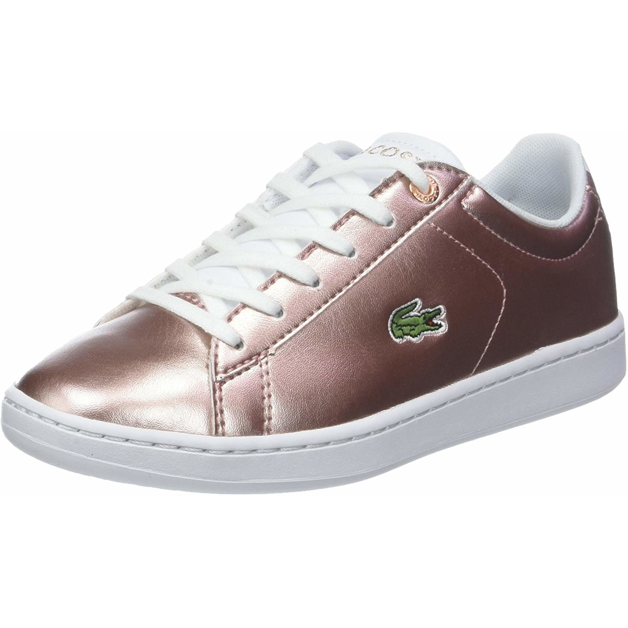 Lacoste Kids Carnaby Evo Metallic Pink Trainers *SAME DAY DISPATCH*