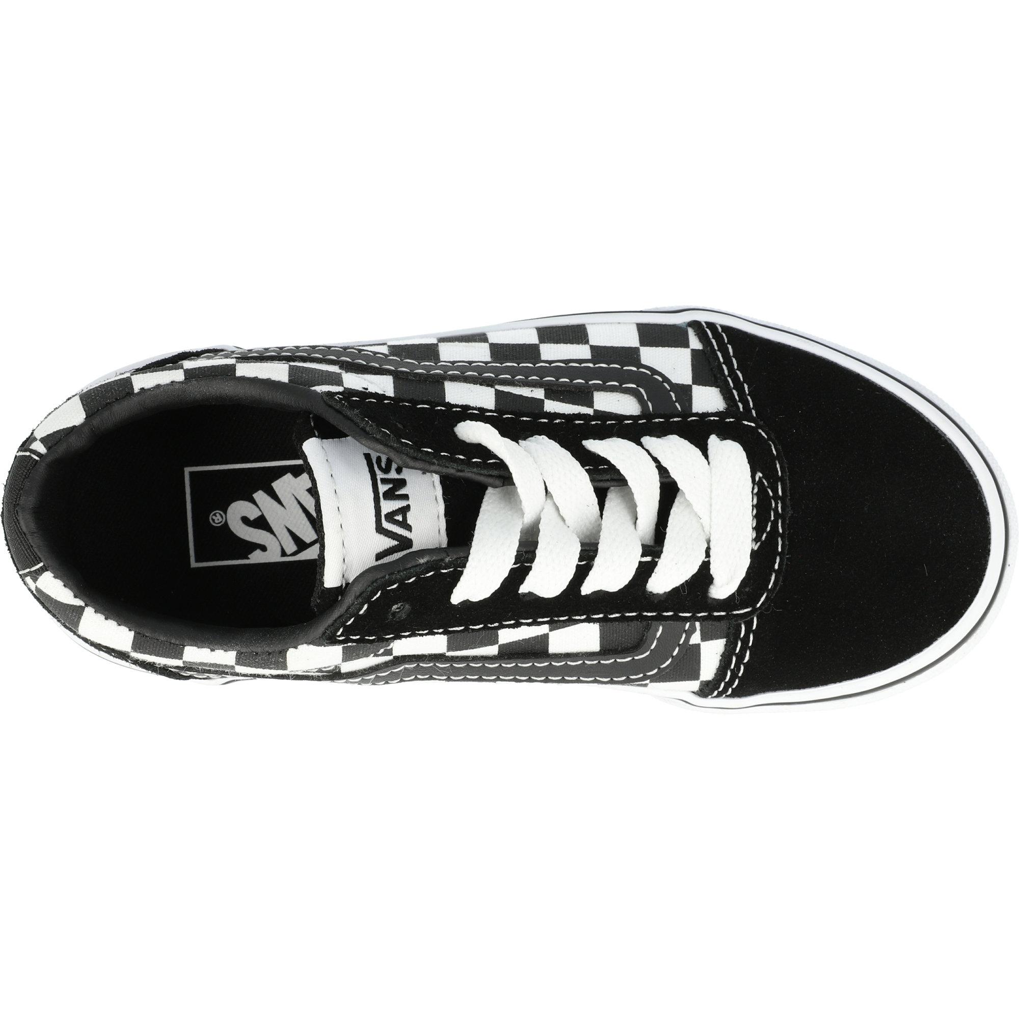 Vans Active YT Ward Black Checkered/White Suede Junior