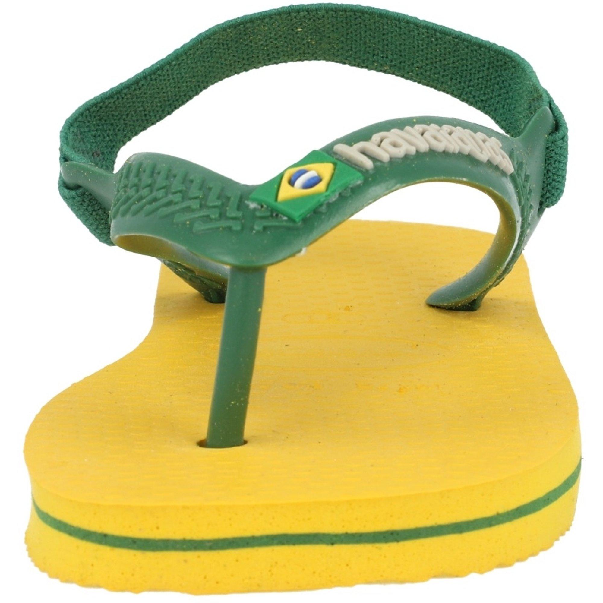 Havaianas Baby Brasil Logo II Banana Yellow Rubber