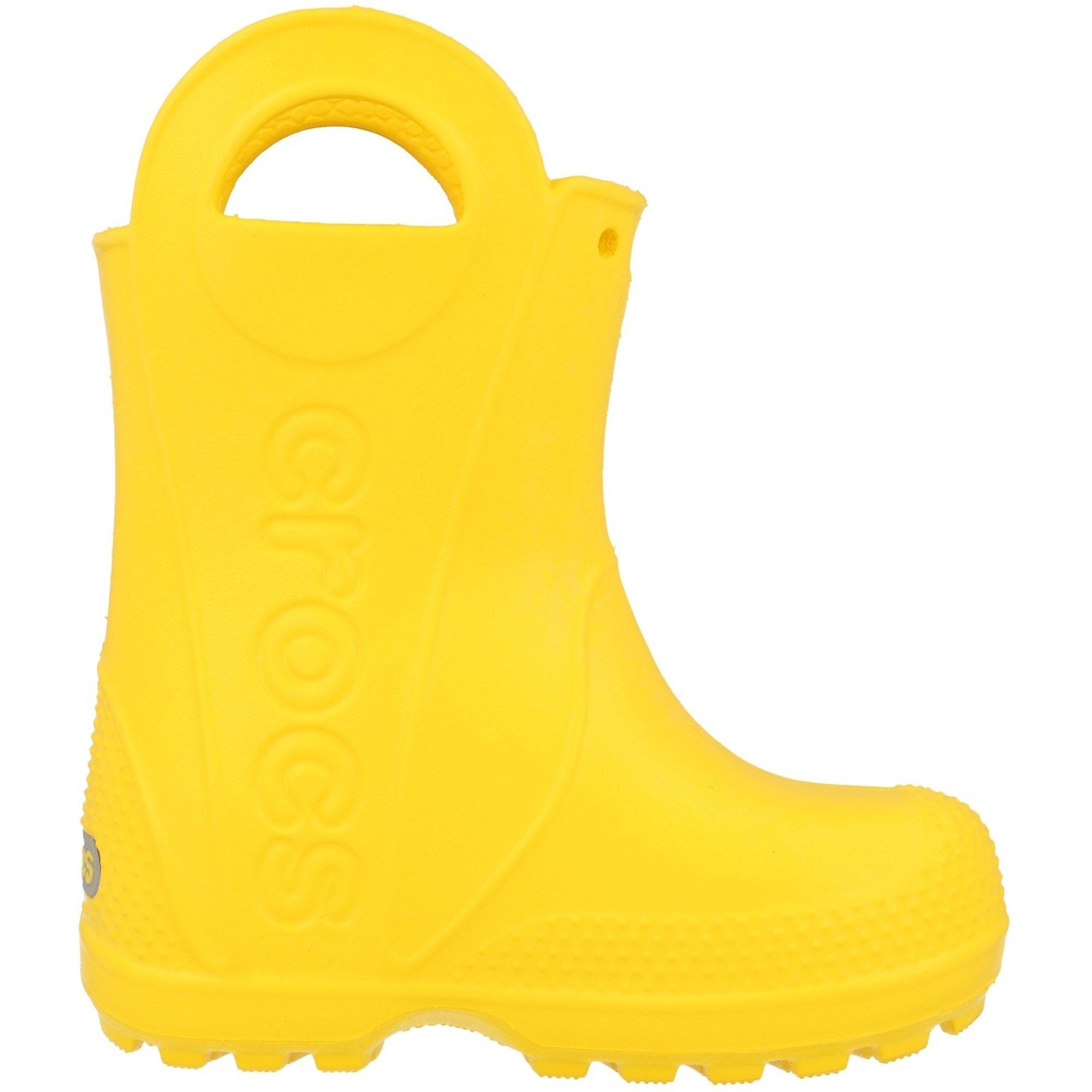 Crocs Kids Handle It Rain Boot Yellow Croslite