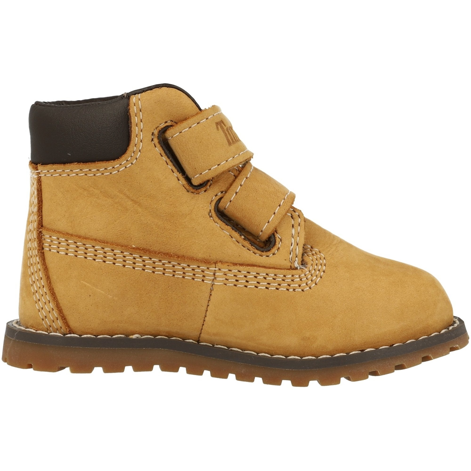 Timberland Pokey Pine Hook & Loop Wheat Nubuck Infant