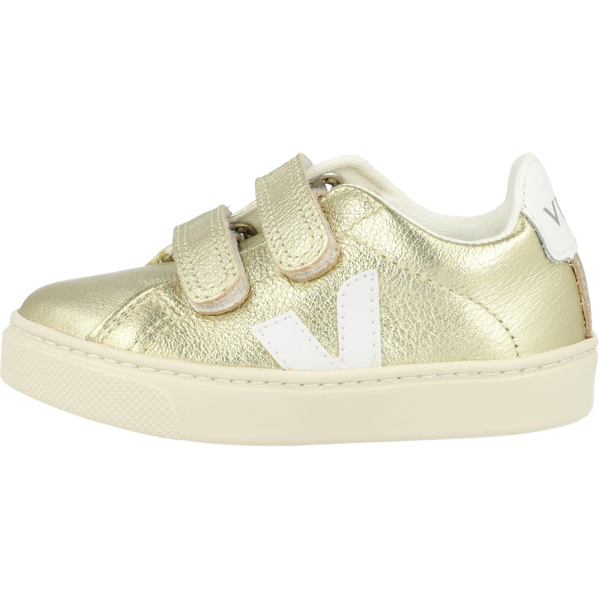 Veja Esplar Velcro Gold/White Leather Infant
