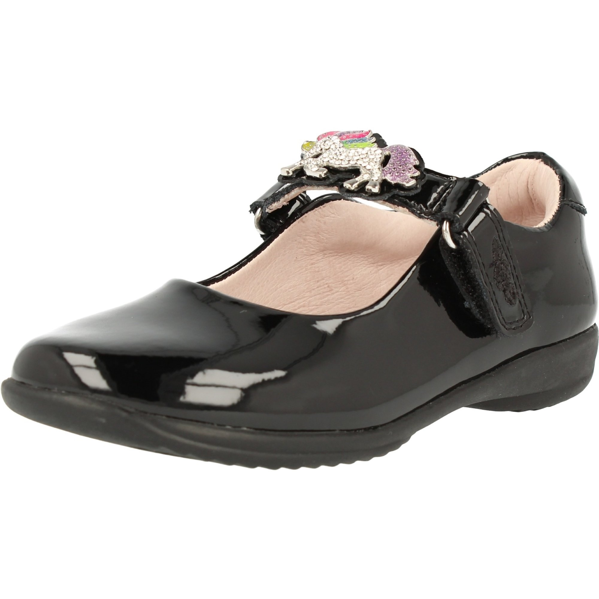 Lelli Kelly Blossom School Dolly Black Patent Infant