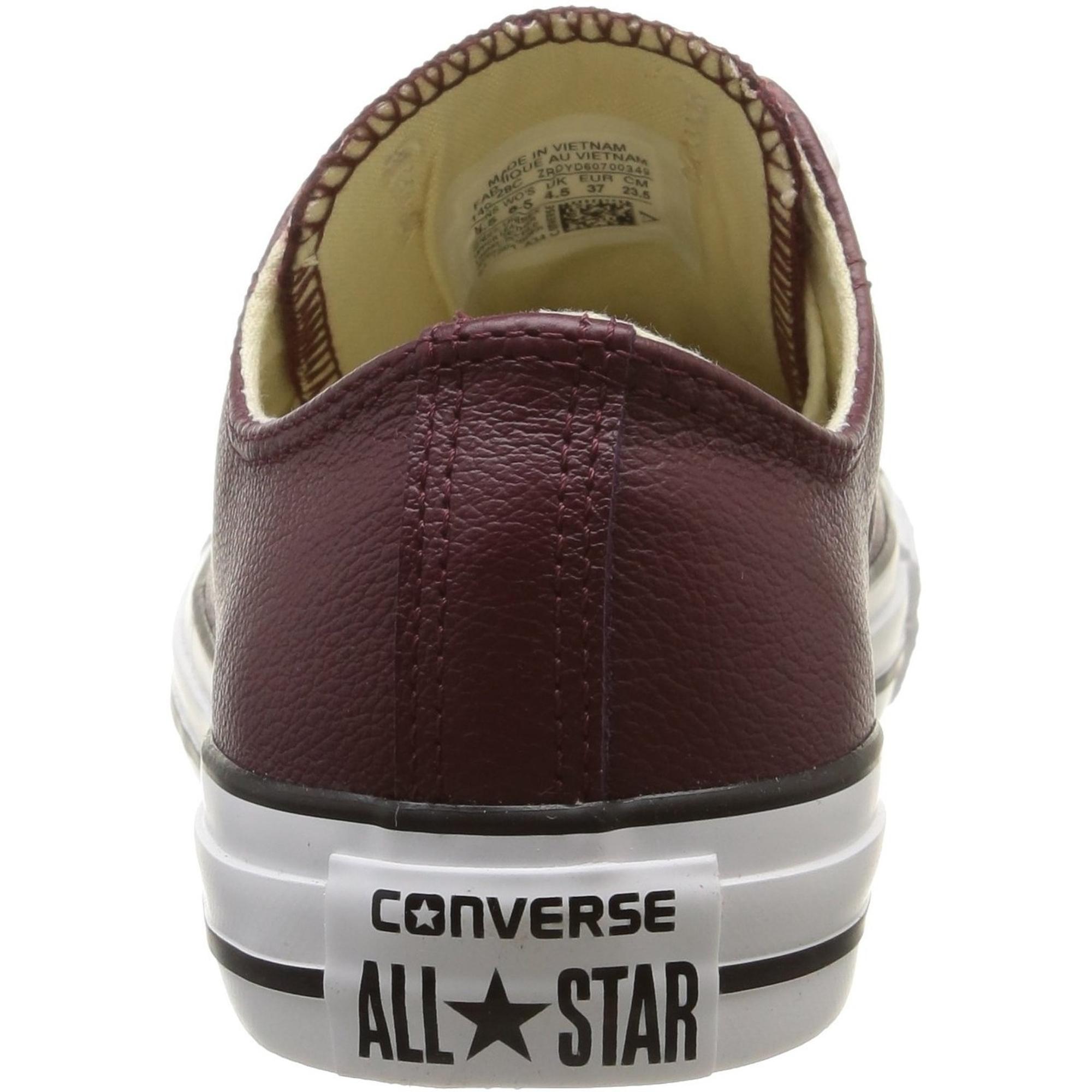 Converse Chuck Taylor All Star Ox Deep Bordeaux Leather Adult