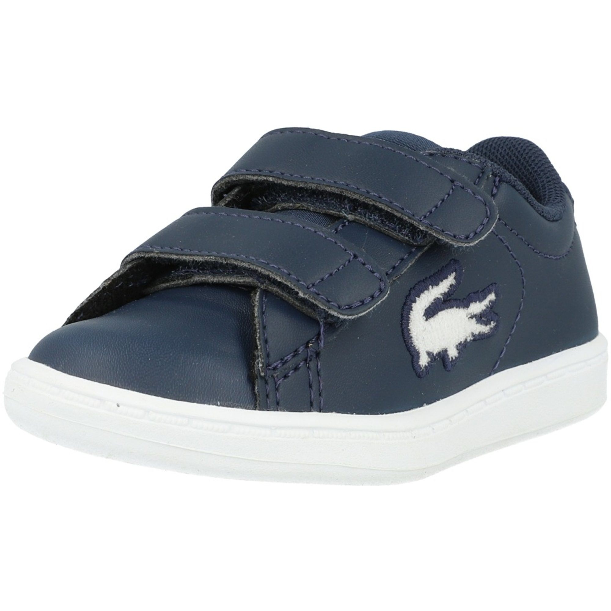 Lacoste Straightset 119 1 White//Navy Synthetic Baby Trainers Shoes