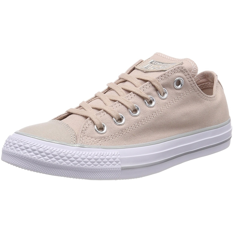 converse metallic beige