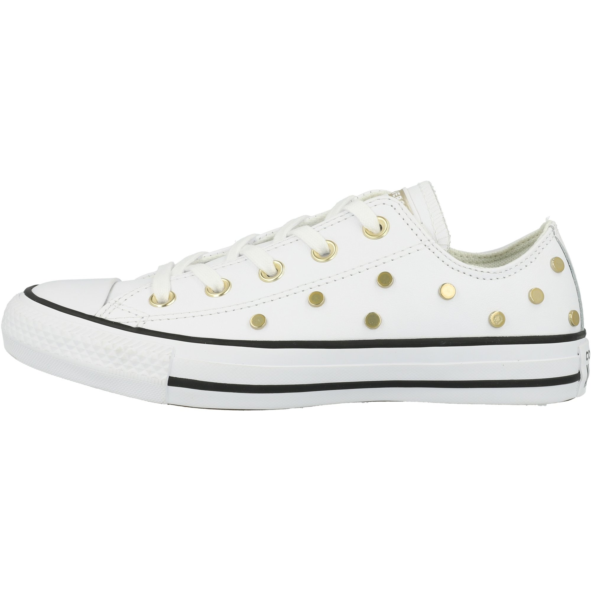 Converse Chuck Taylor All Star Ox Leather Studs WhiteBlackLight Gold Leather Adult