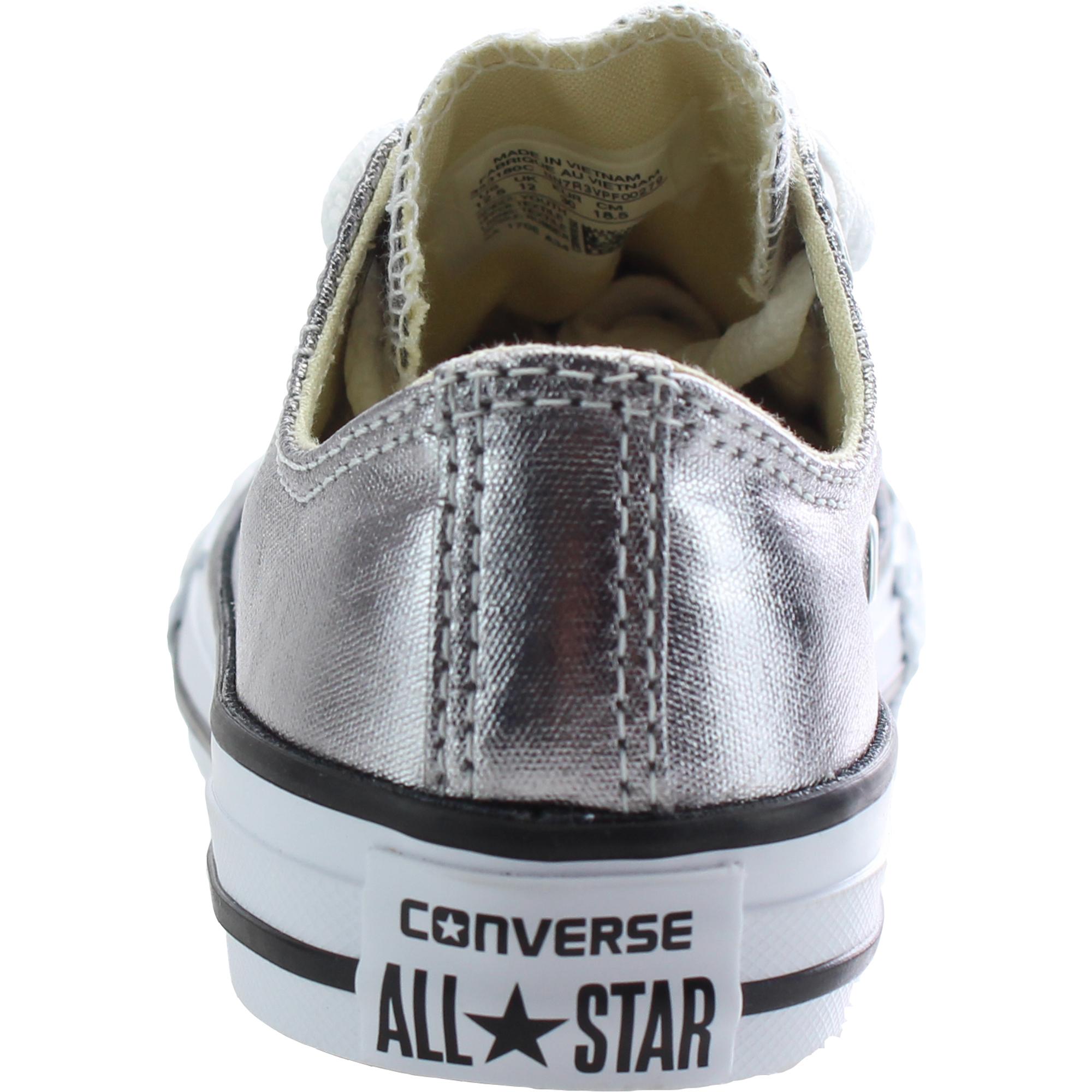 Converse Chuck Taylor All Star Ox Metallic Gunmetal Textile Junior