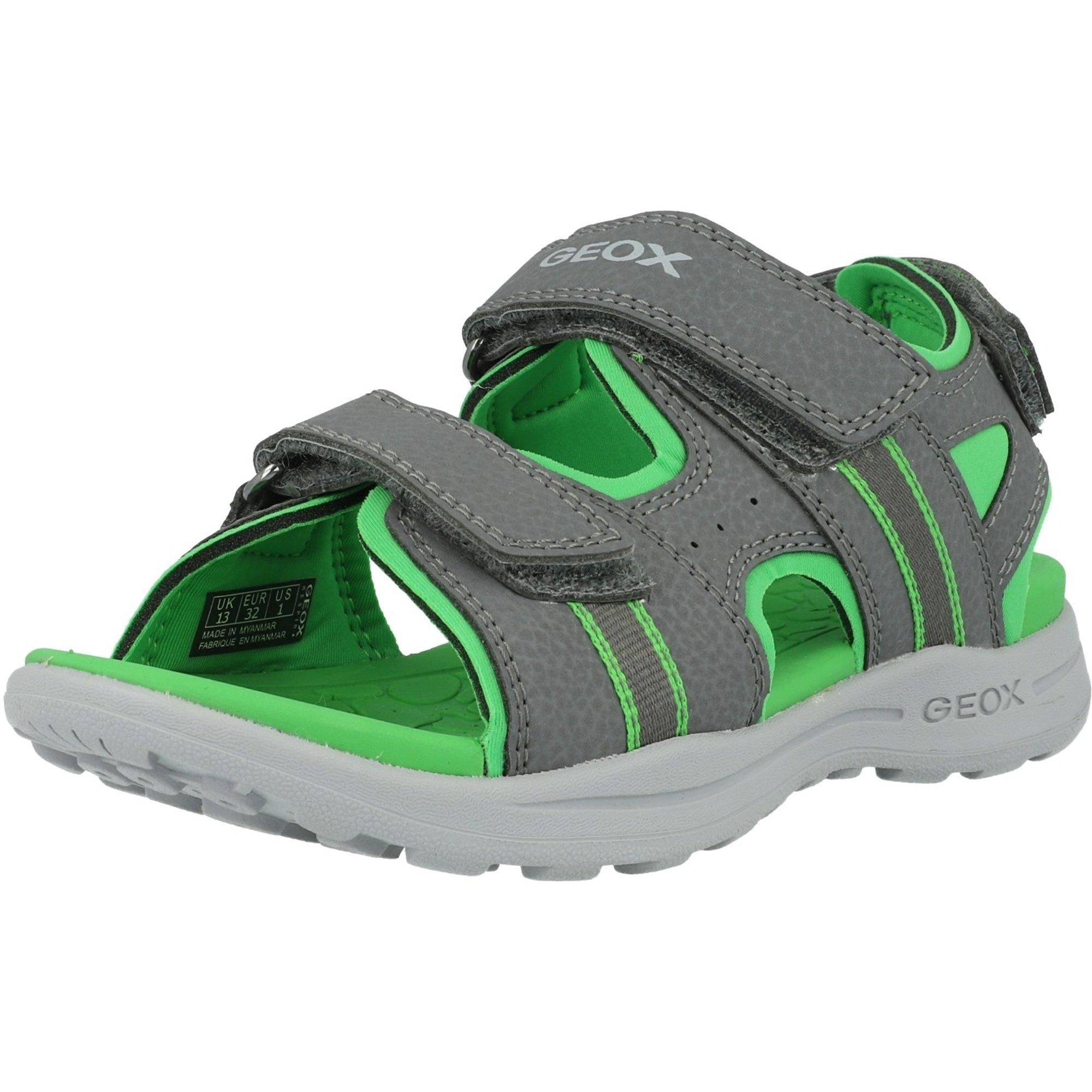 los recién llegados original mejor calificado producto caliente Geox J Gleeful B Gray/Green Lycra - Flat Sandals - Awesome Shoes