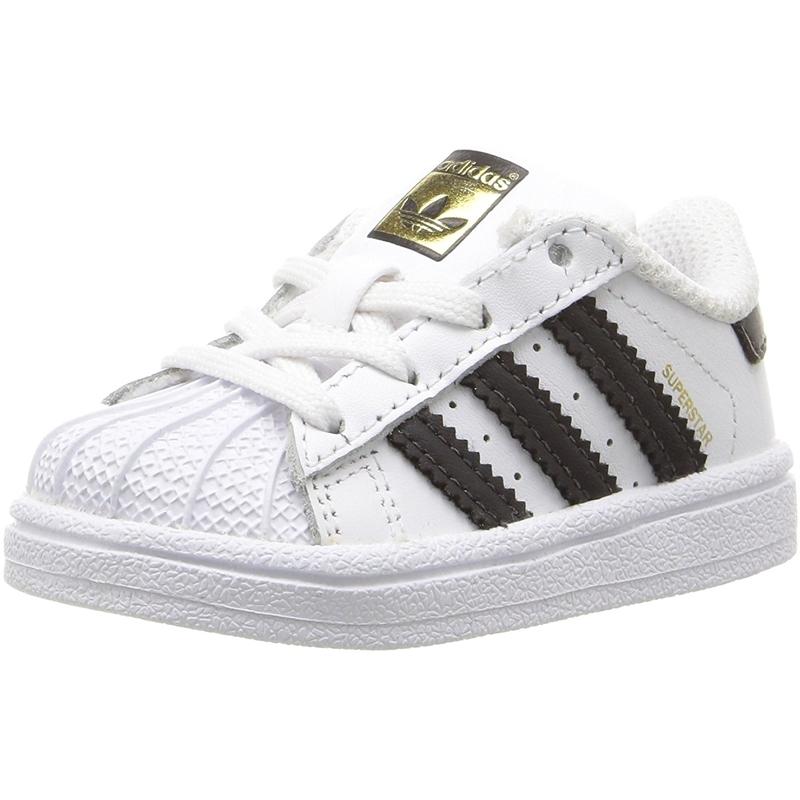 Detalles de adidas Originals Superstar I BlancoNegro Cuero Bebé Entrenadores Zapatos