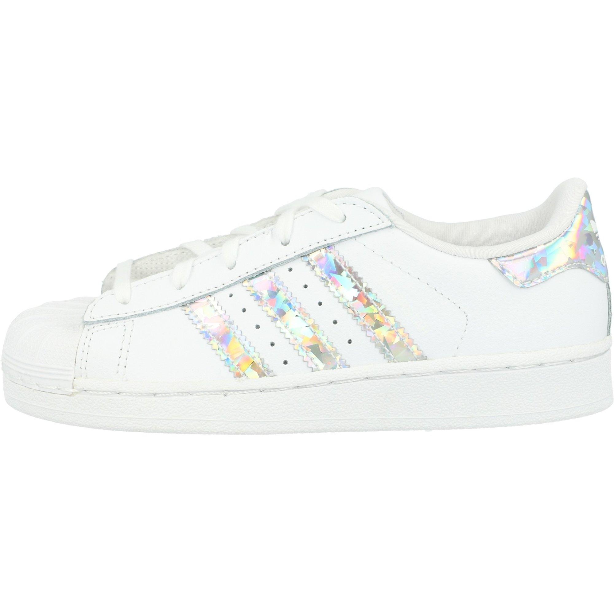adidas Originals Superstar C White/Silver Leather