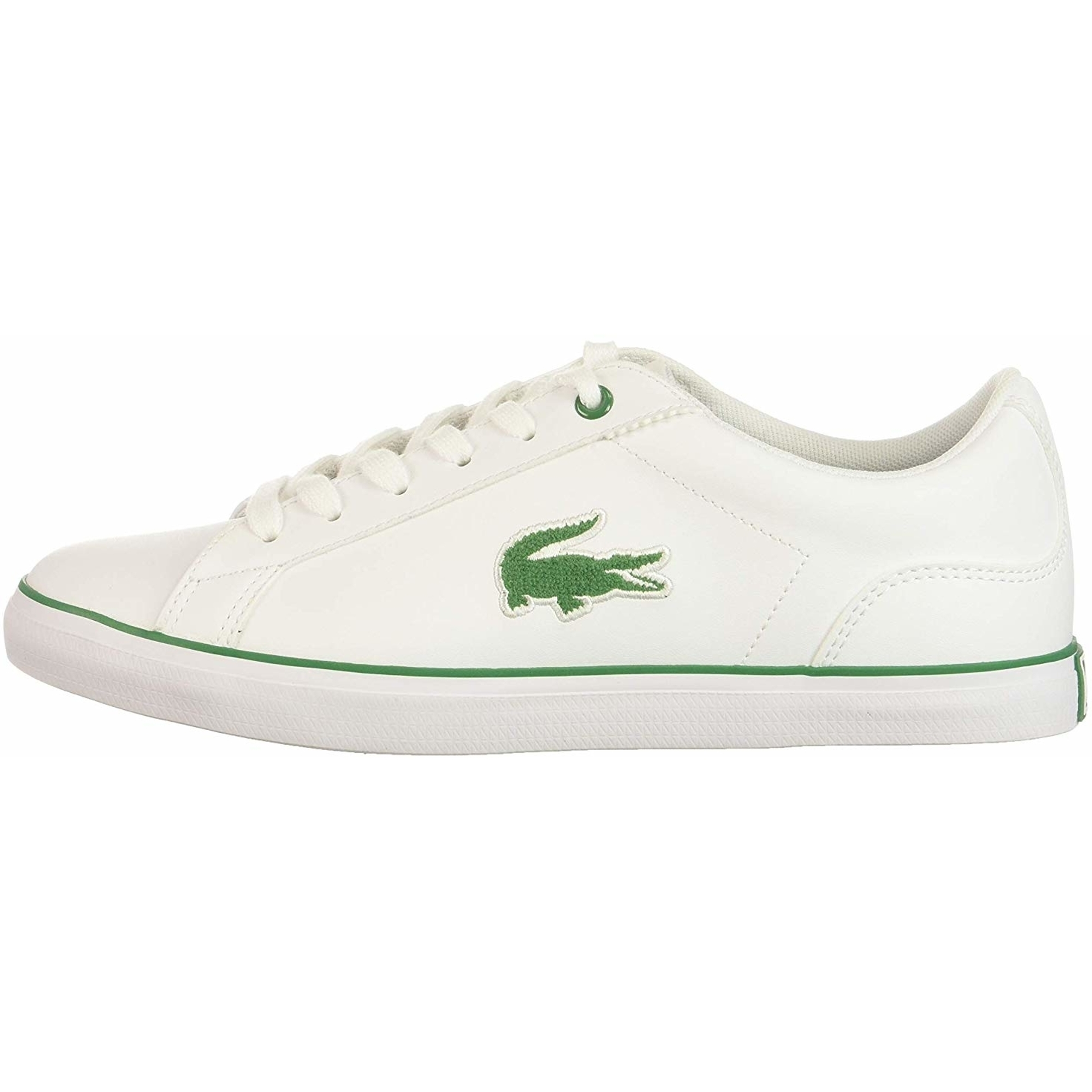 Lacoste Lerond 318 3 White//Pink Synthetic Youth Trainers Shoes