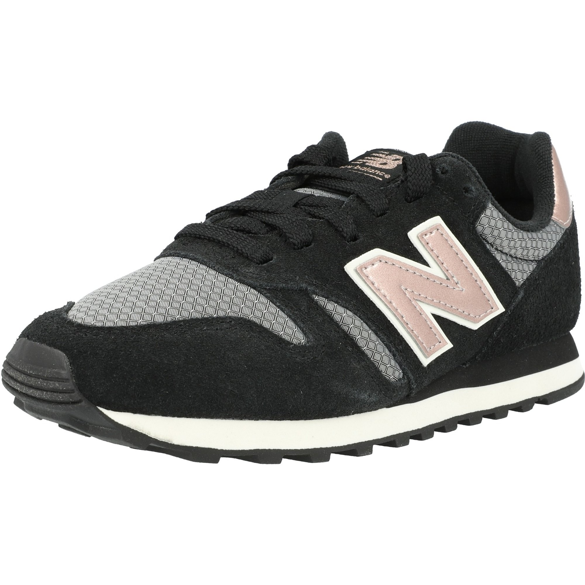 New Balance 373 Black/Champagne Leather Adult