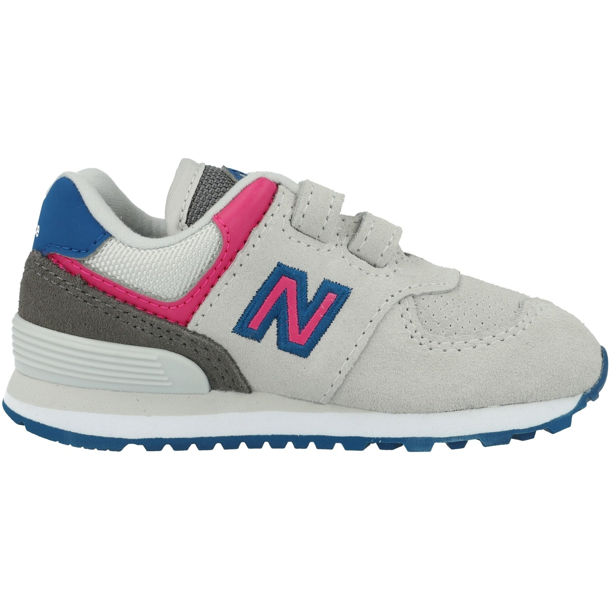 New Balance 574 Summer Fog//Carnival Suede Infant Trainers Shoes