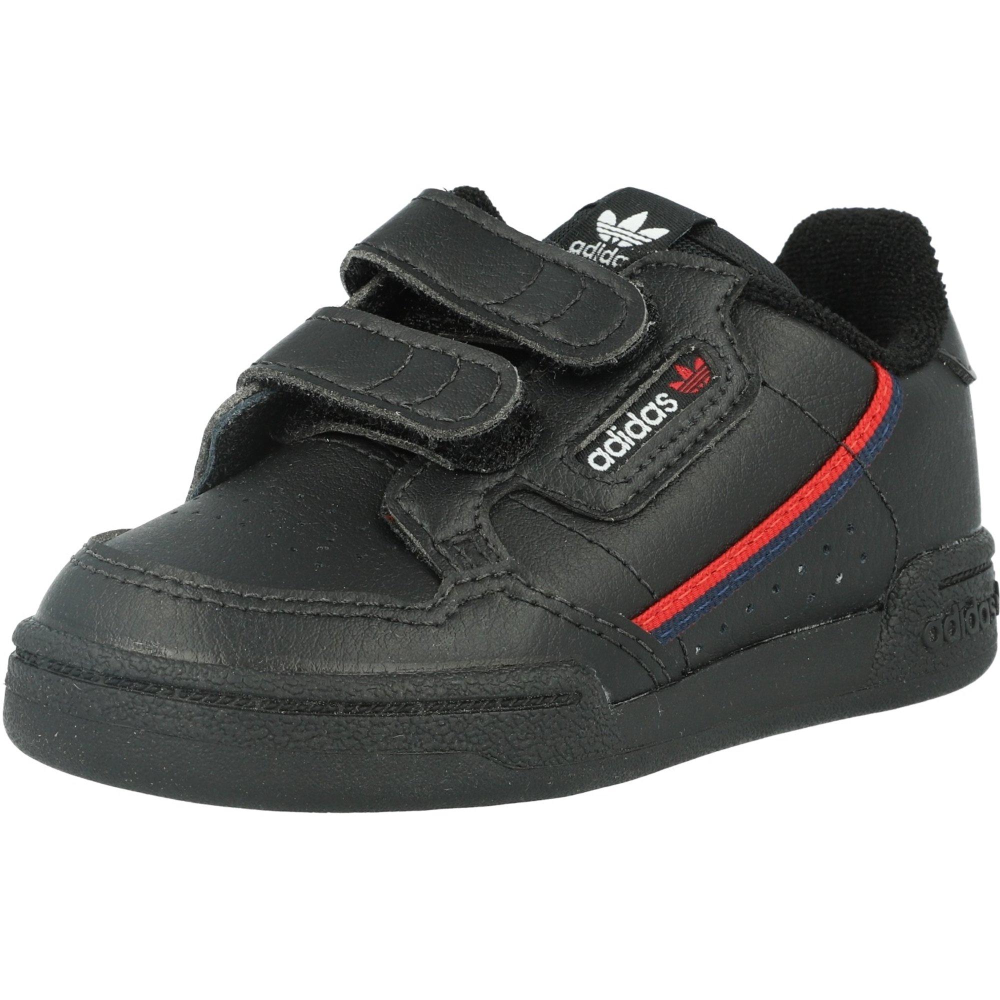 adidas Originals Continental 80 CF I Black/Scarlet Leather Infant