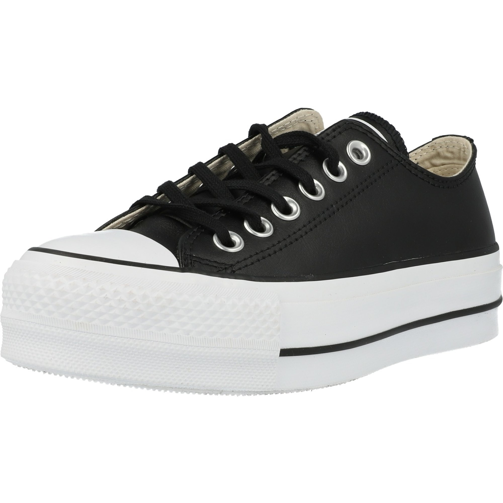 converse chuck taylor all star clean lift mujer negro ox zapatillas