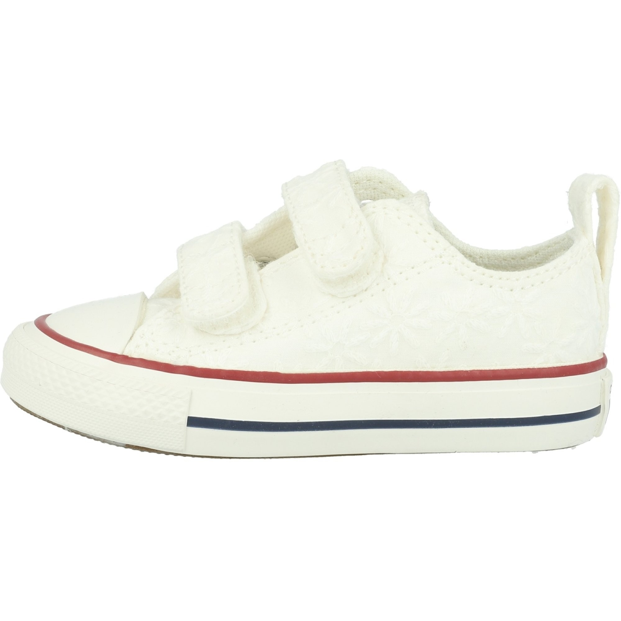 Converse Chuck Taylor All Star 2V Little Miss Chuck Ox White/Midnight Navy Cotton Infant