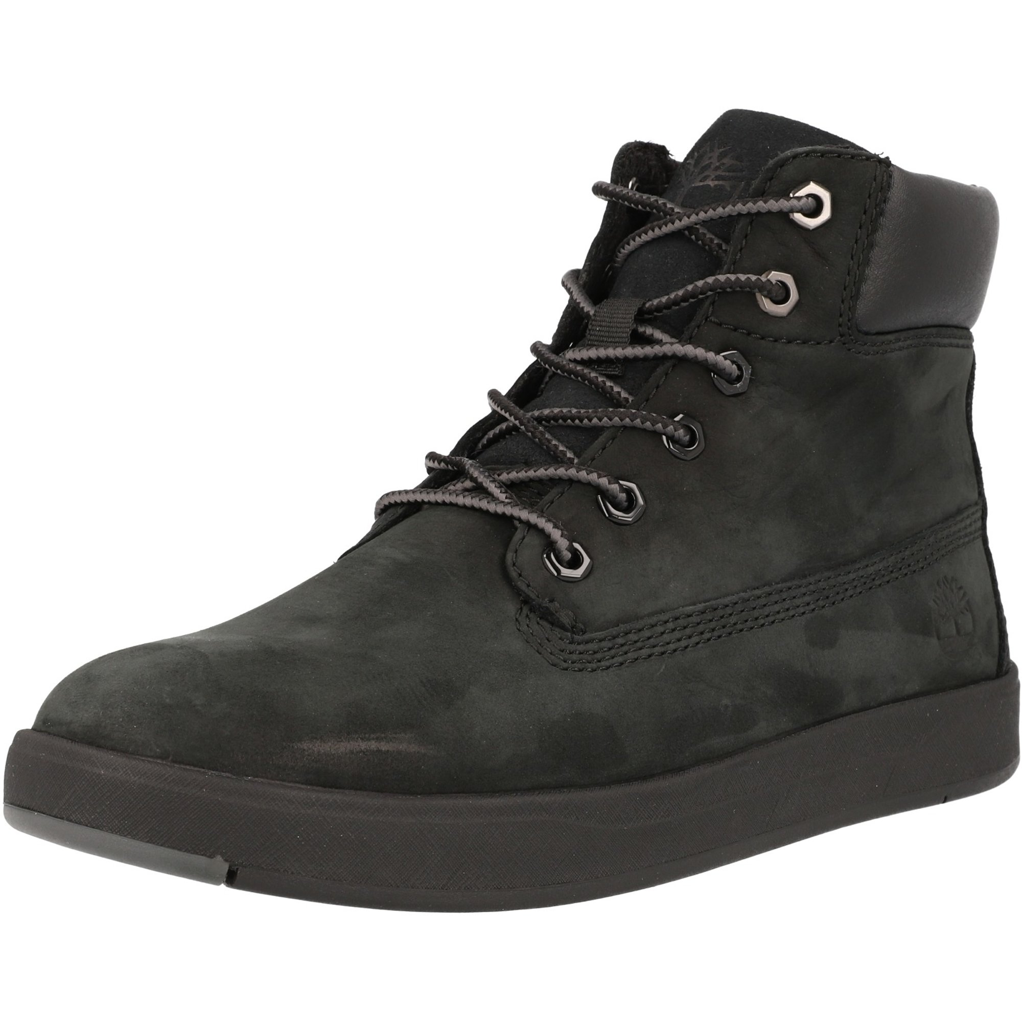 Timberland Davis Square 6 Inch Boot Black Nubuck Youth