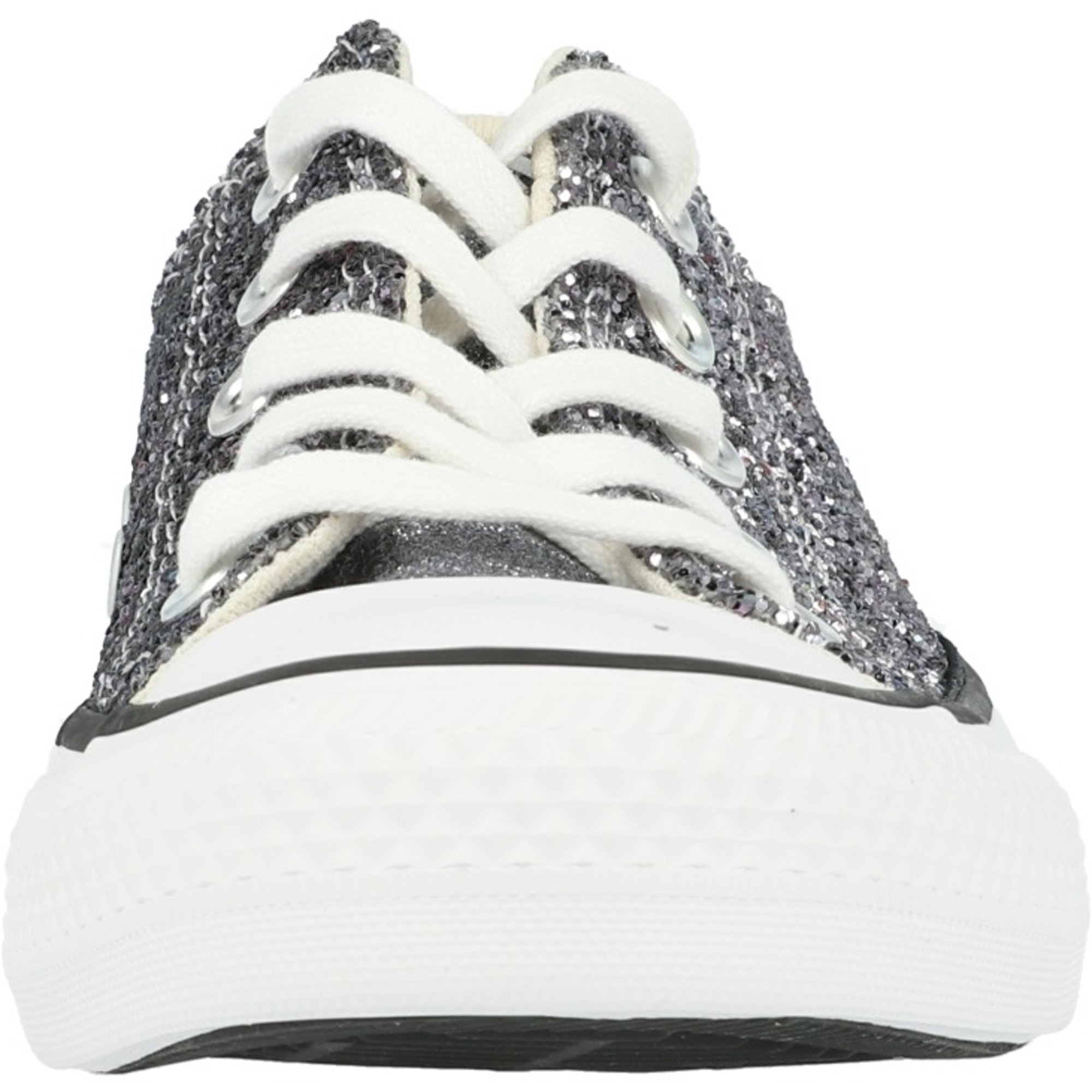 Converse Chuck Taylor All Star Glitter Ox Silver/Black Synthetic