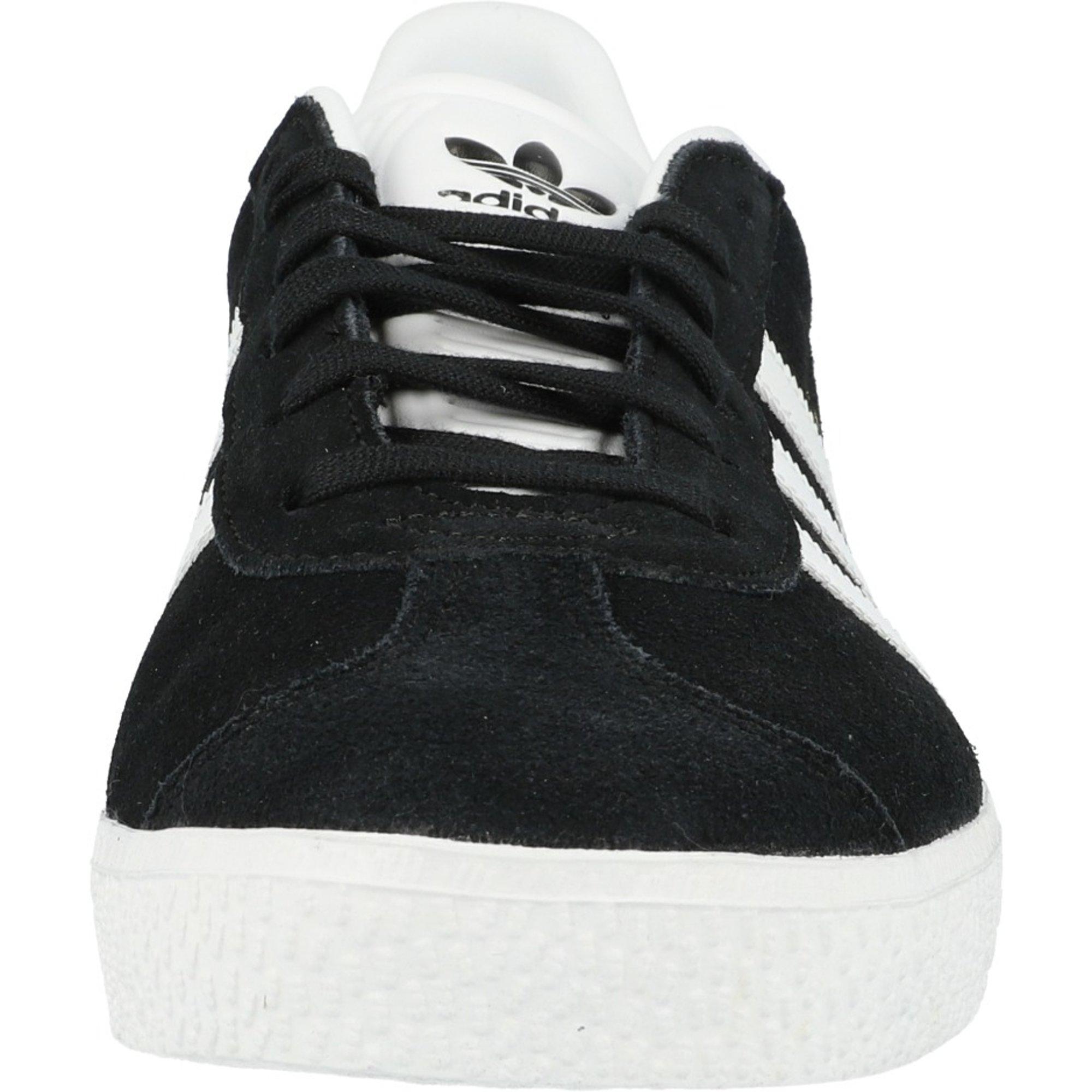 adidas Originals Gazelle J Black/Gold Metallic/White Suede Junior