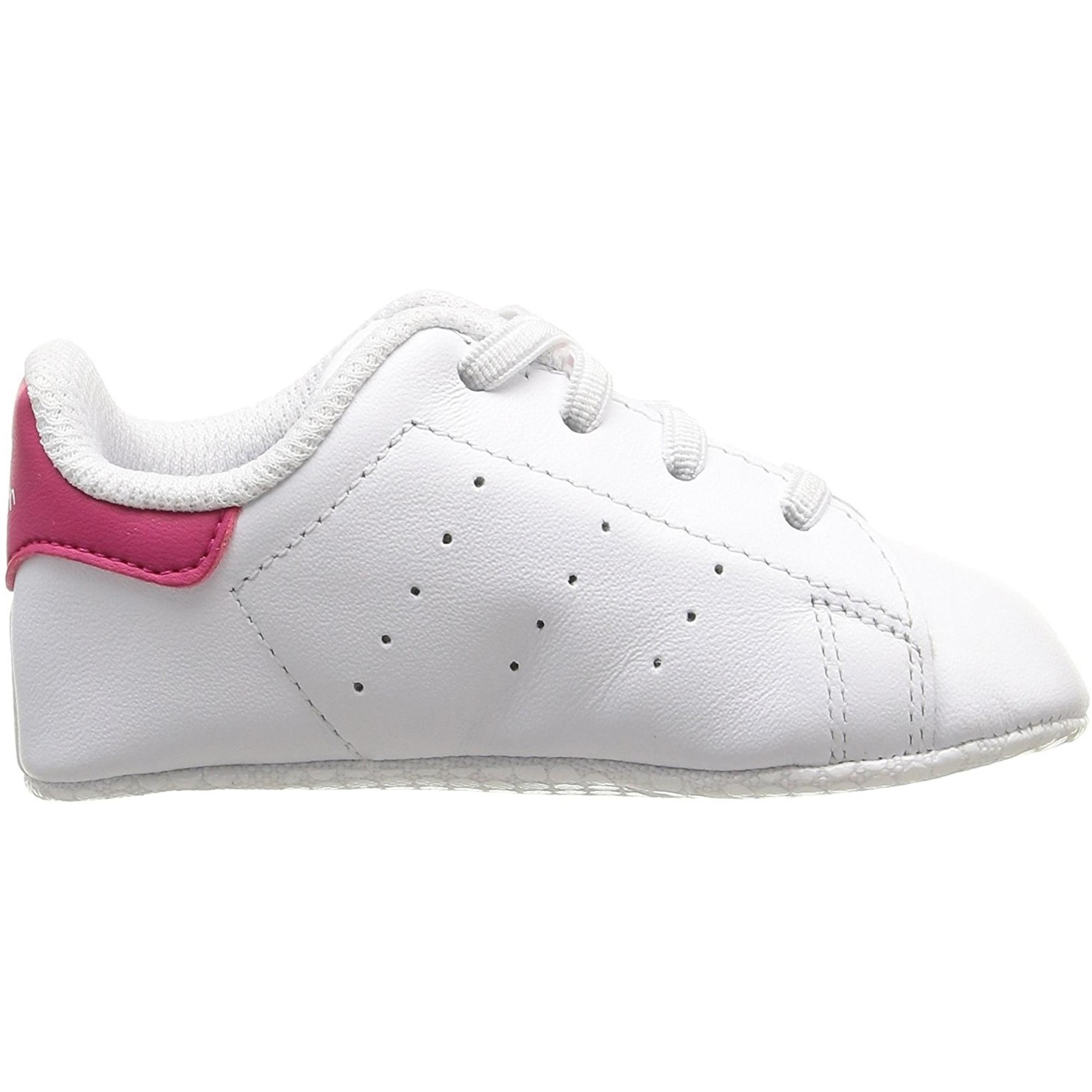 adidas Originals Stan Smith Crib White/Bold Pink Leather Baby