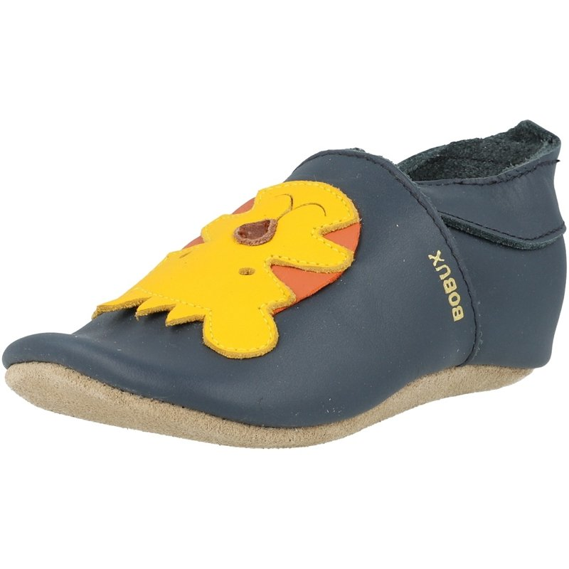 Details about Bobux Soft Sole Tiger Navy Leather Baby Soft Soles Shoes