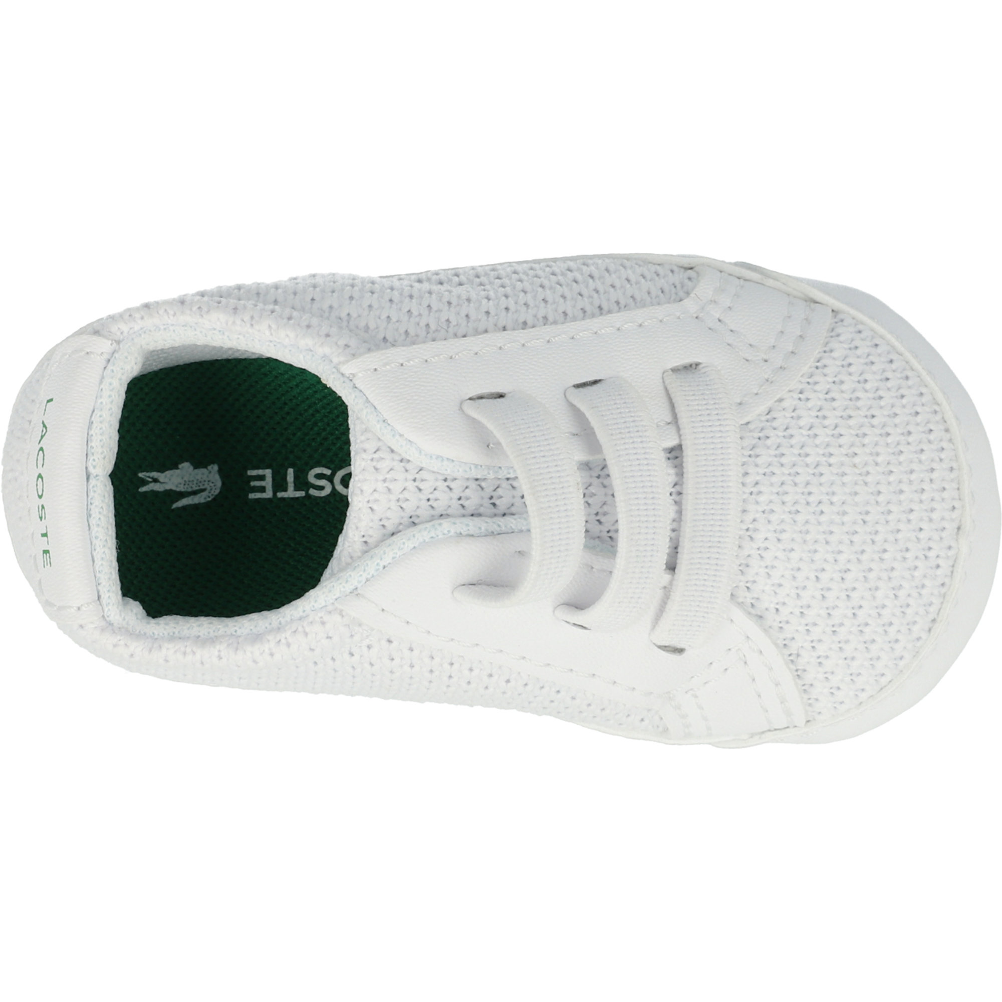 White//Green Lacoste Crib 318 Baby Shoes 7-36CAB0001082
