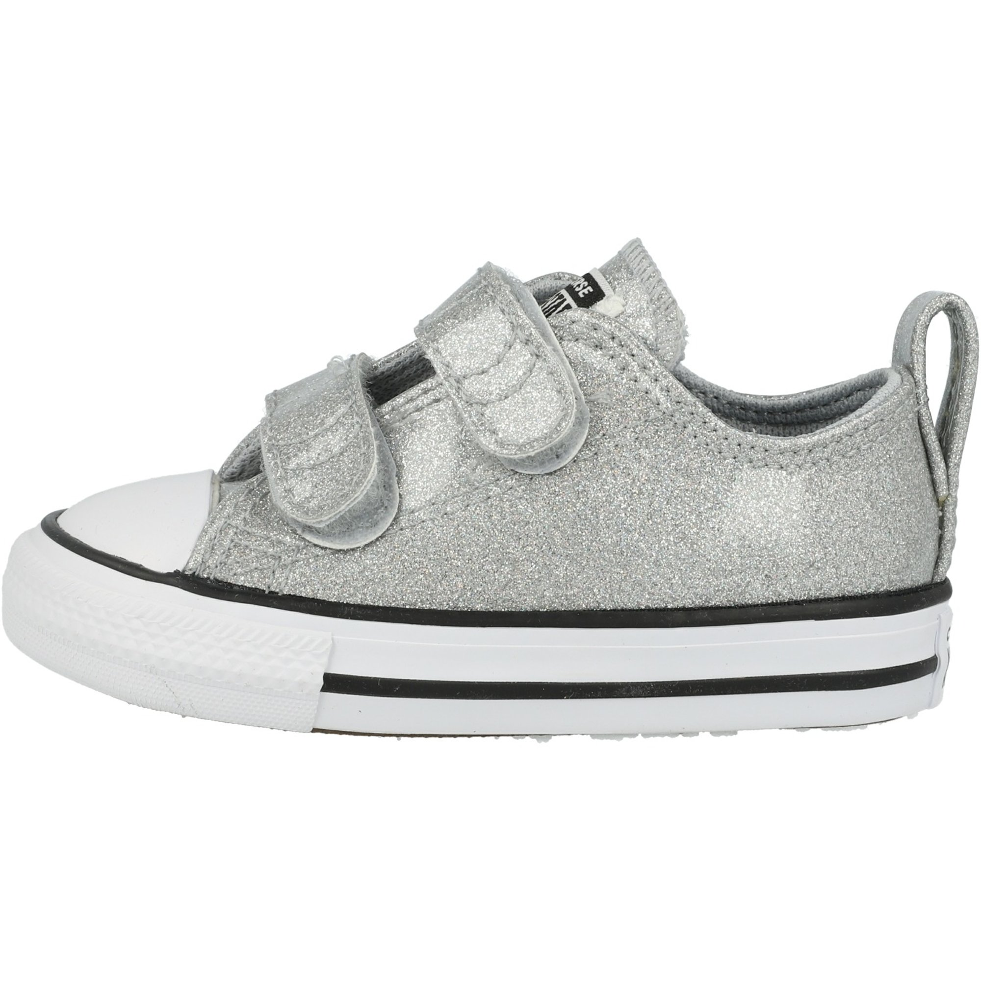 Converse Chuck Taylor All Star 2V Coated Glitter Wolf Grey/Black Synthetic Infant
