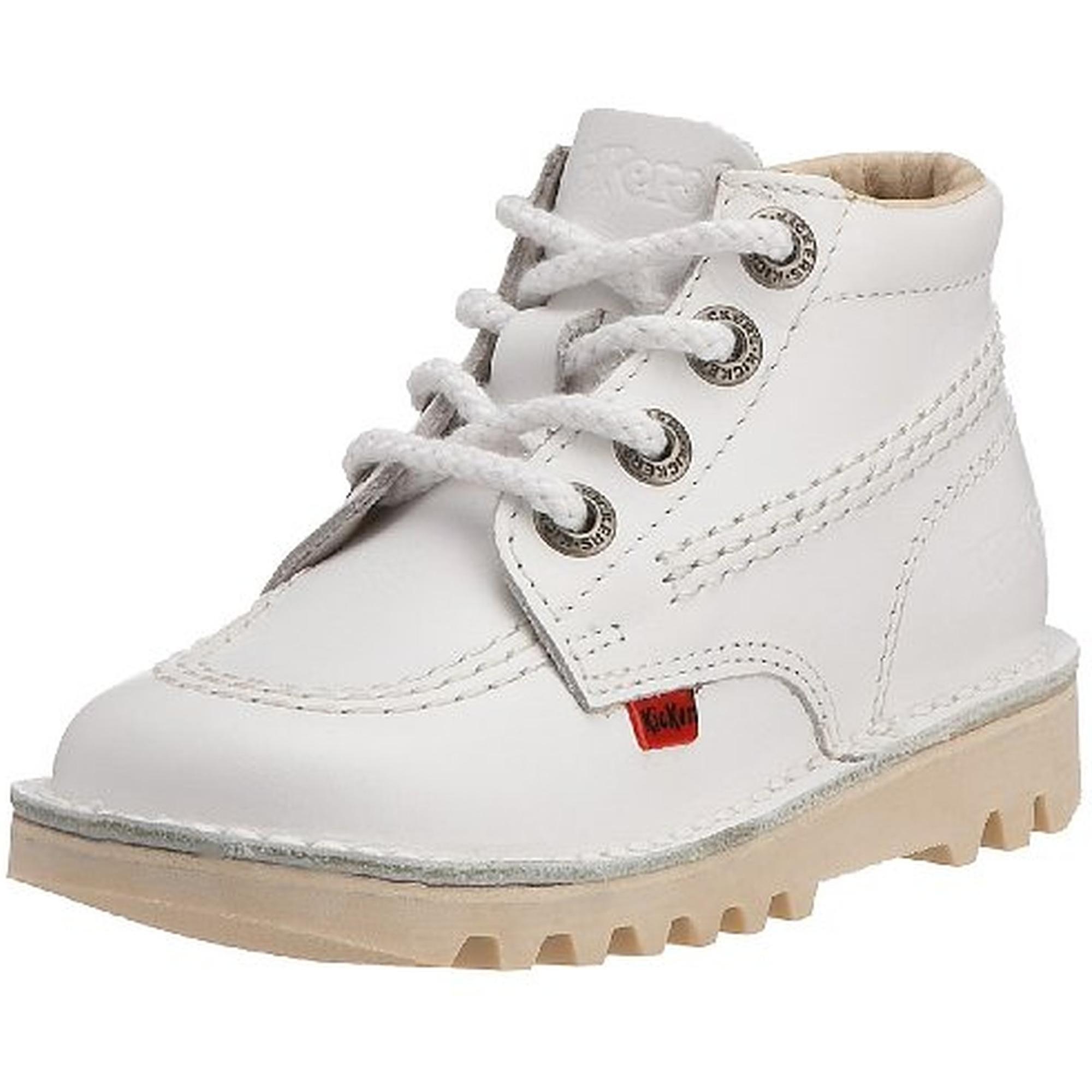 Kick Hi I White Leather - Ankle Boots