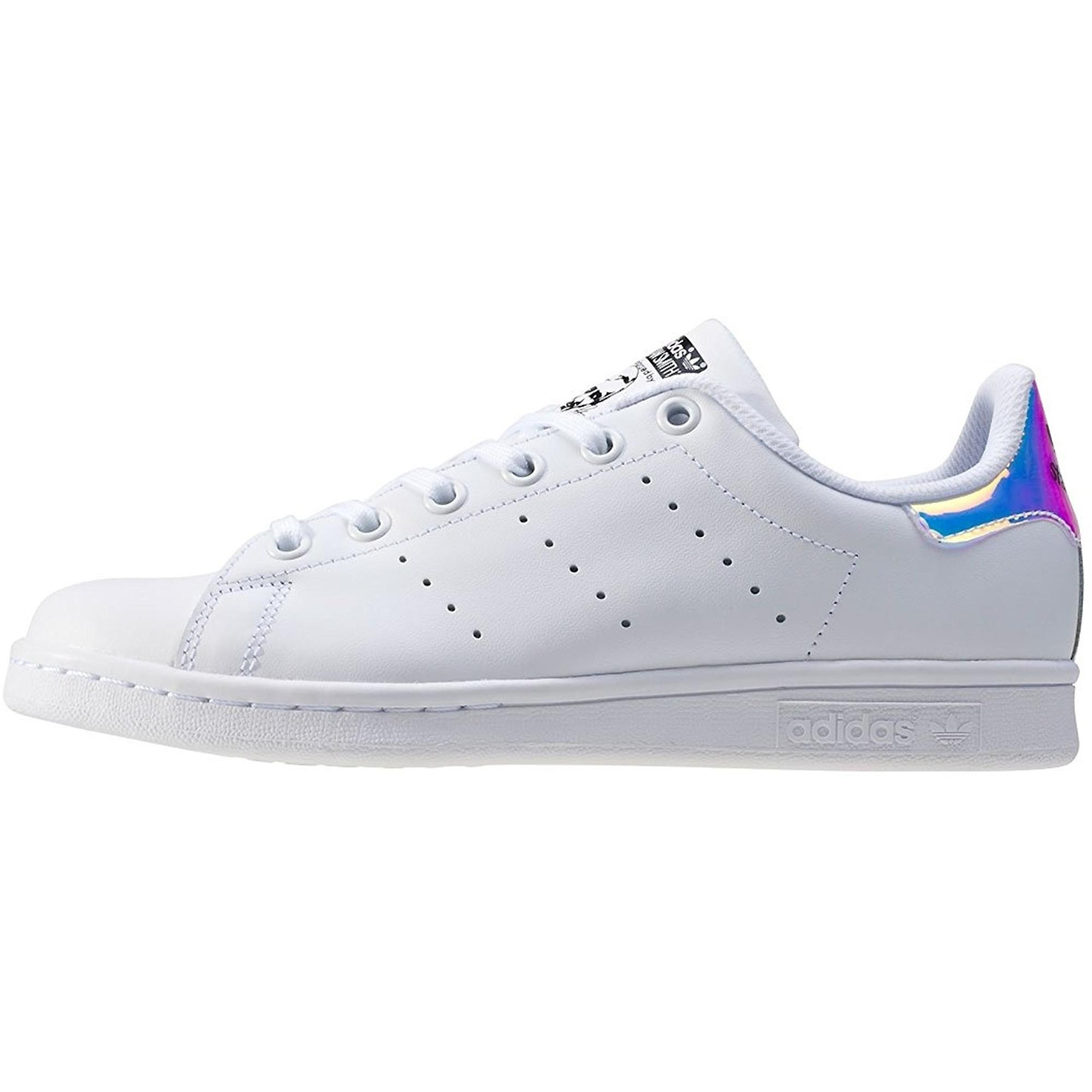 adidas Originals Stan Smith J BlancIridescent Cuir Jeunesse