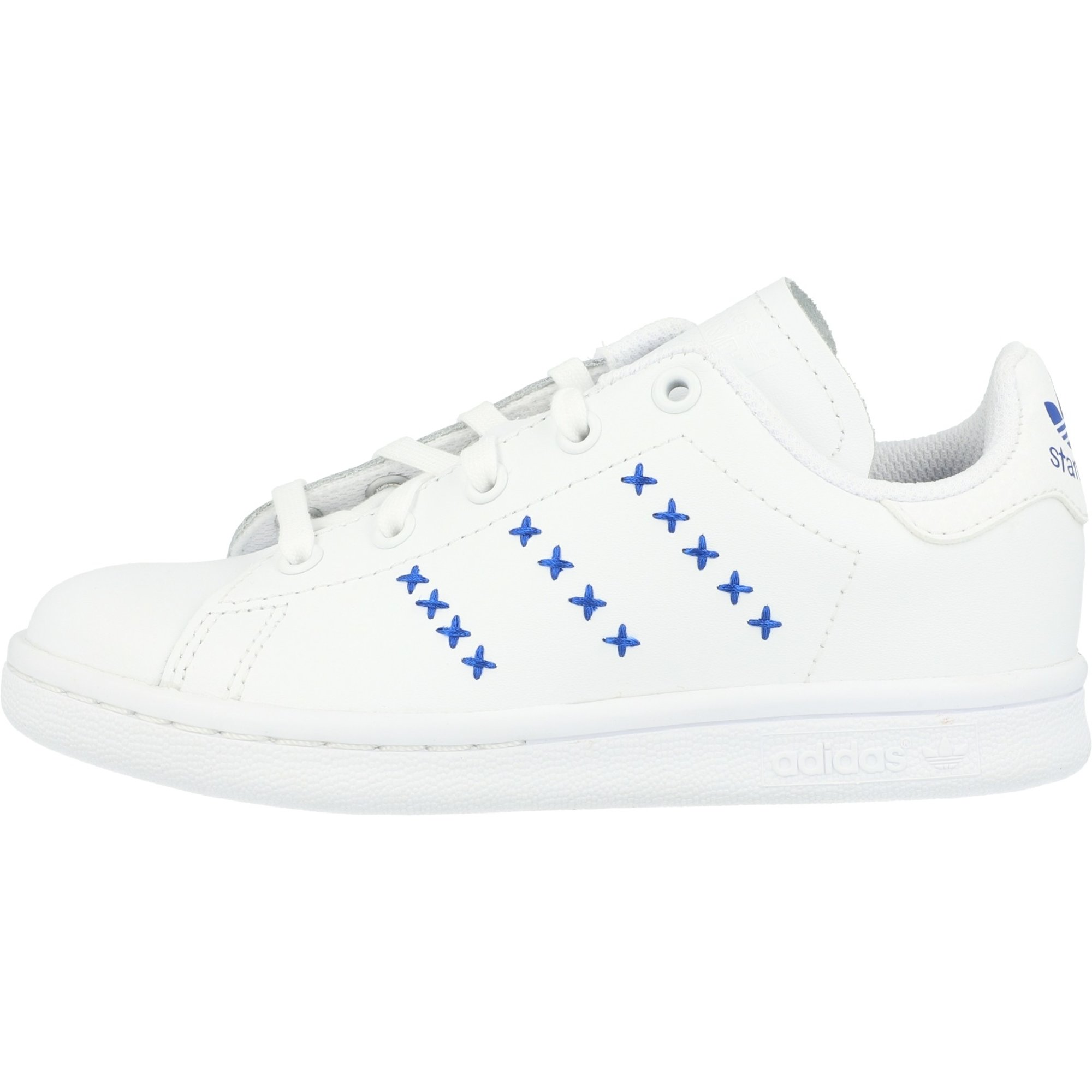 adidas Originals Stan Smith C White/Royal Blue Leather Child
