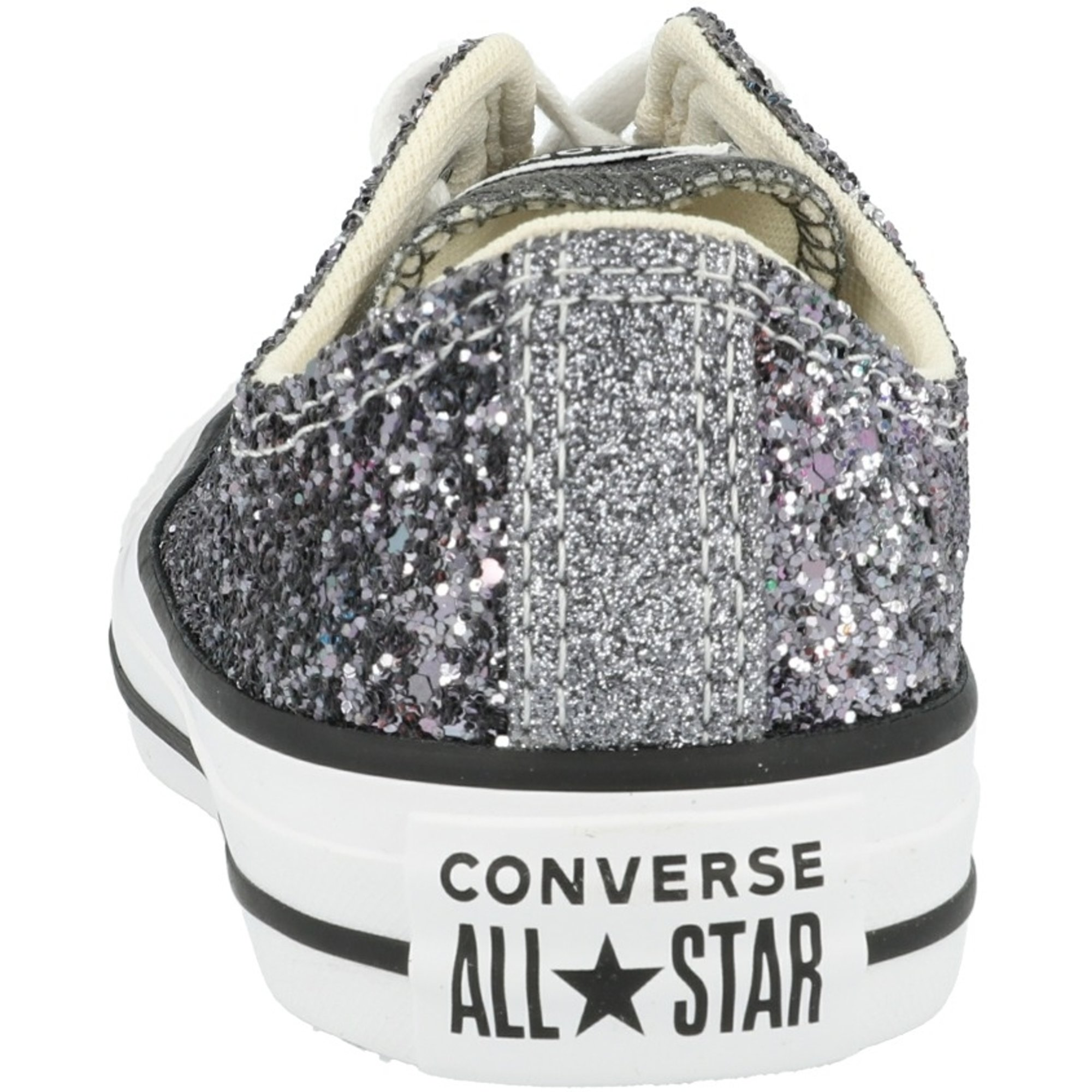 Converse Chuck Taylor All Star Glitter Ox Silver/Black/White Synthetic Adult