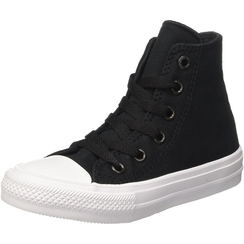 Details about Junior Converse Ctas II Chuck Taylor All Star Black White Hi Top Trainers