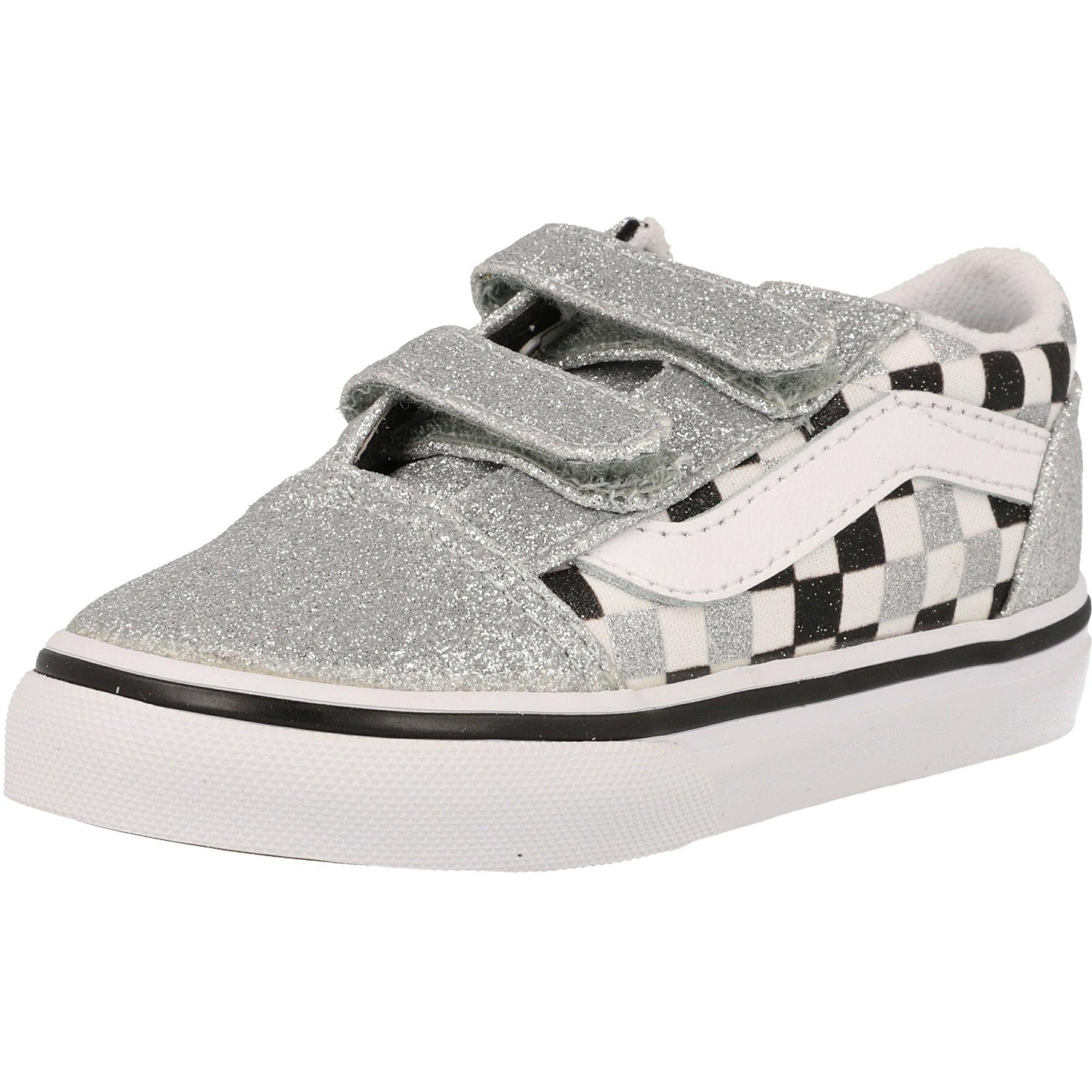 Old Vans Suede Infant Td White V Glittertrue Skool Silver bg6Y7fy