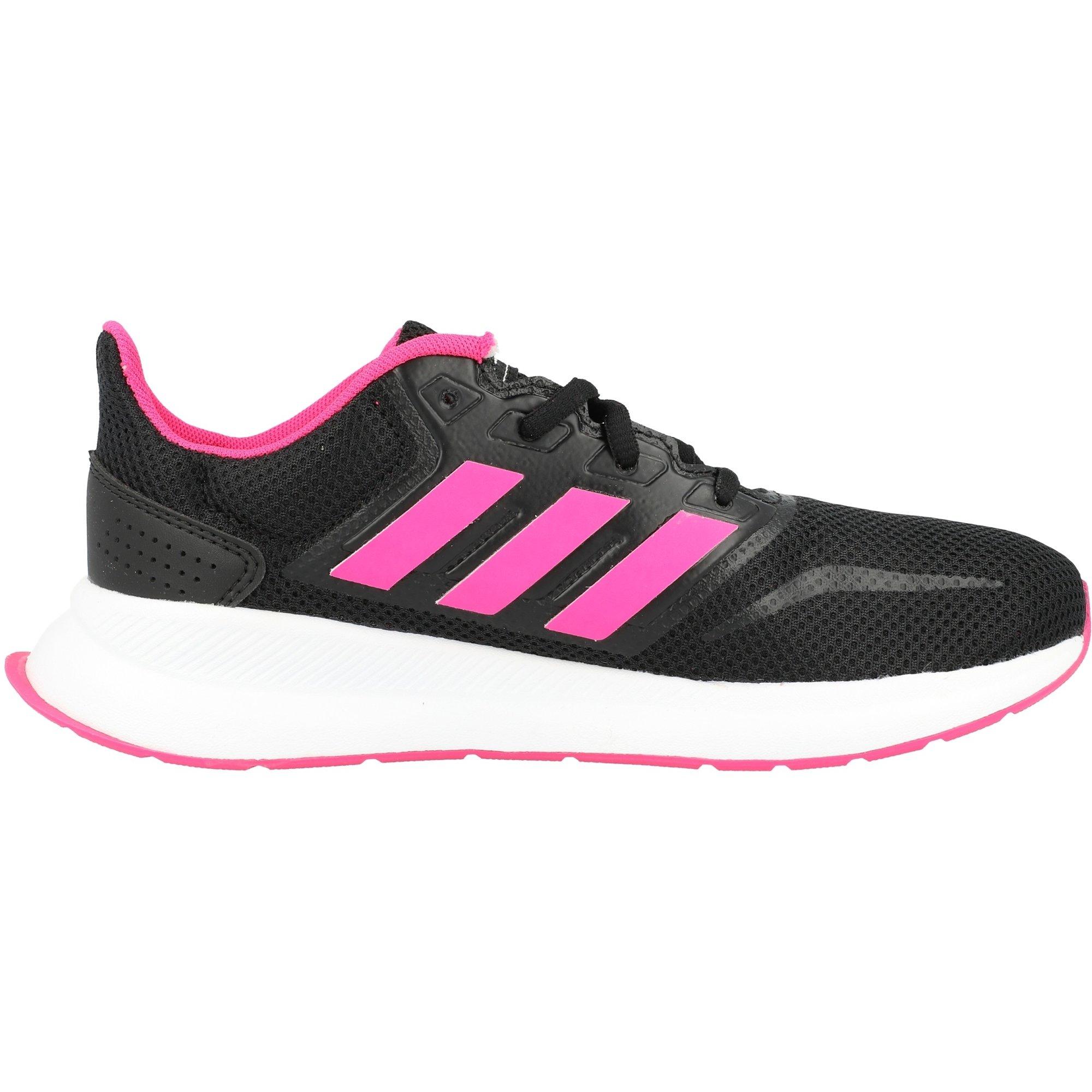 adidas RunFalon K Black/Shock Pink Textile Youth