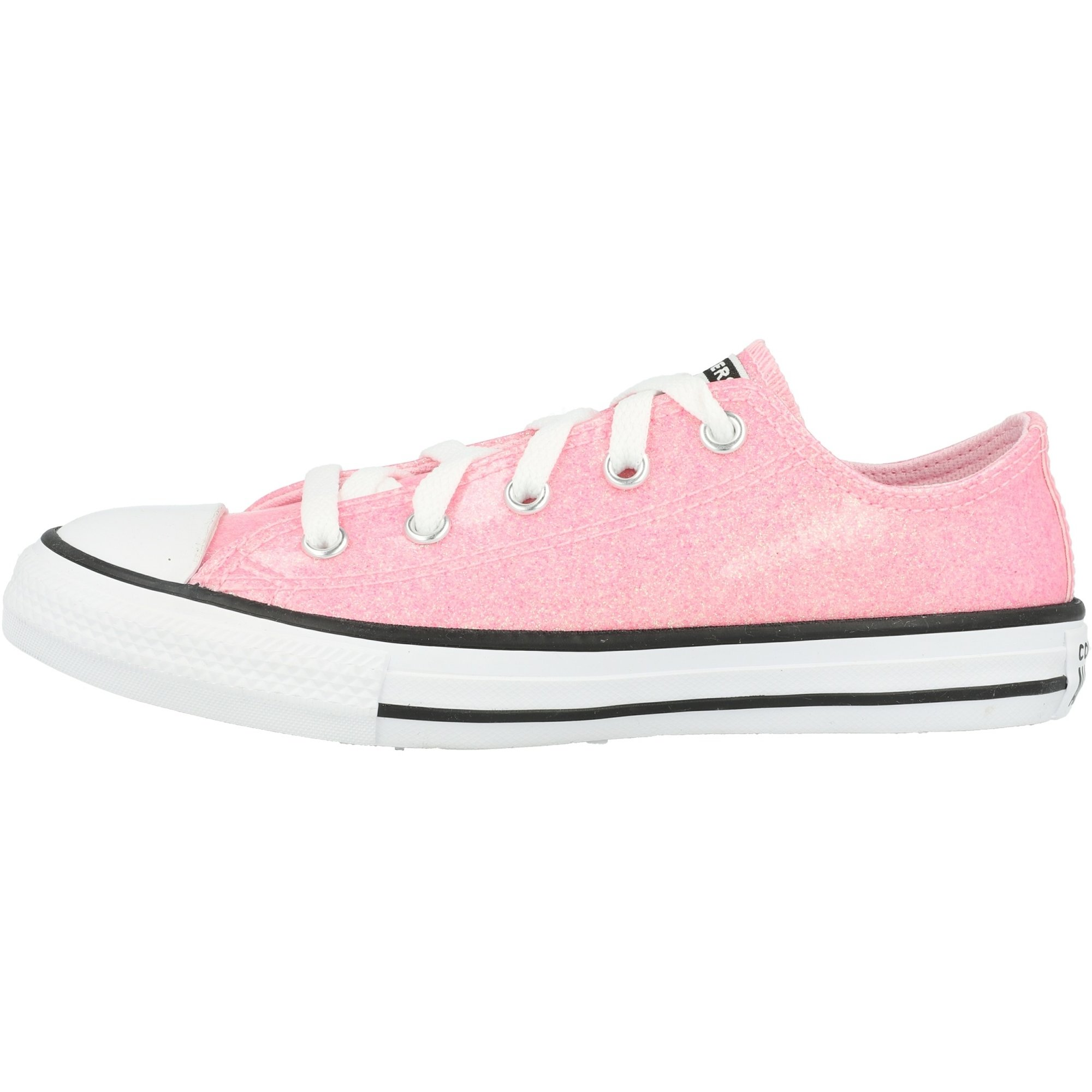 Converse Chuck Taylor All Star Ox Coated Glitter Cherry BlossomBlackWhite Synthetic Youth