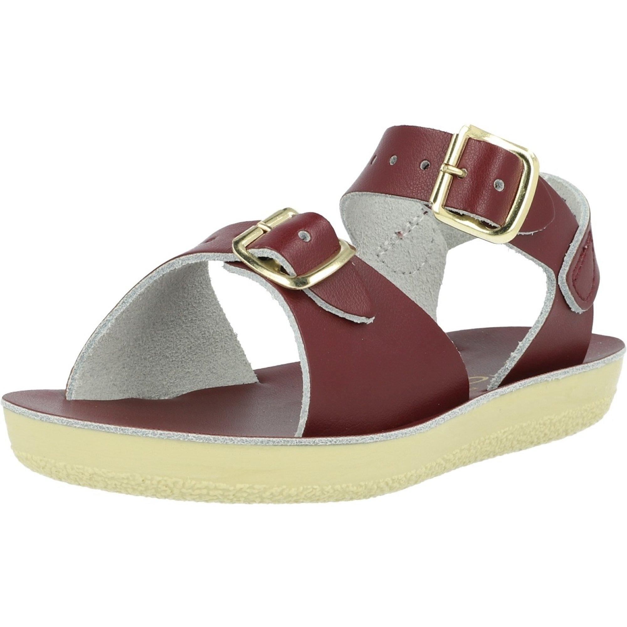 Salt Water Sandals Sun-San Surfer Claret Leather
