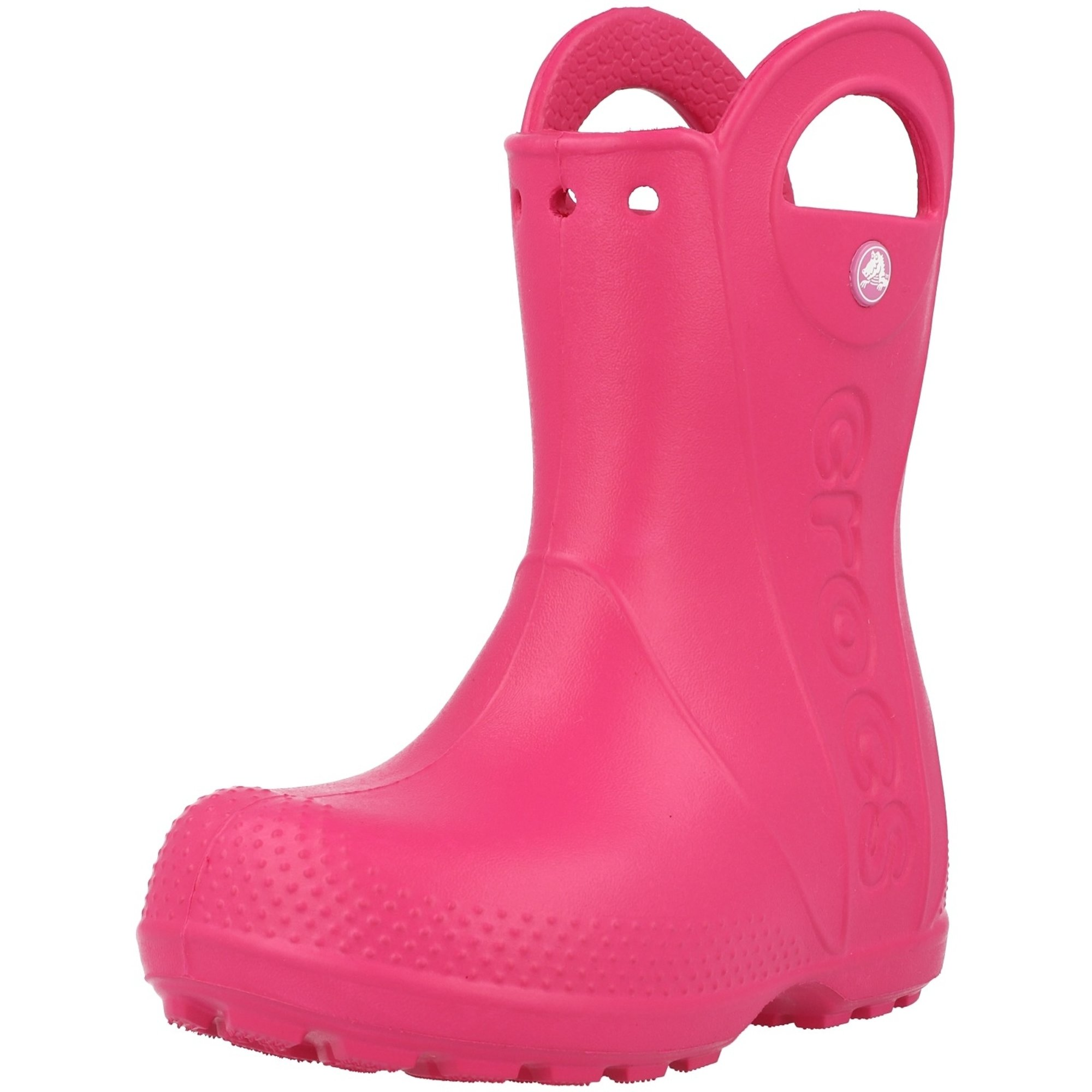 Crocs Kids Handle It Rain Boot Candy Pink Croslite