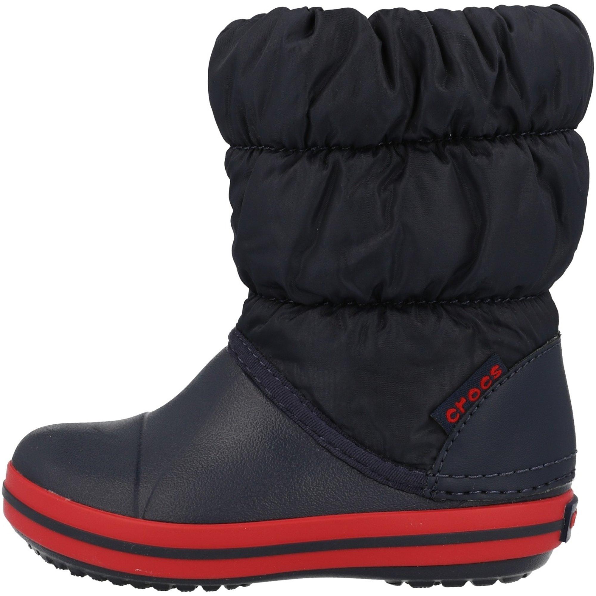 Crocs Kids Winter Puff Boot MarineRot Nylon Säugling