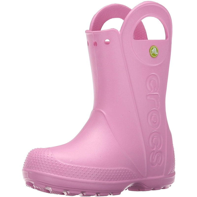 Crocs Light Pink Baby Boots Handle It Rain Boot Kids Carnation