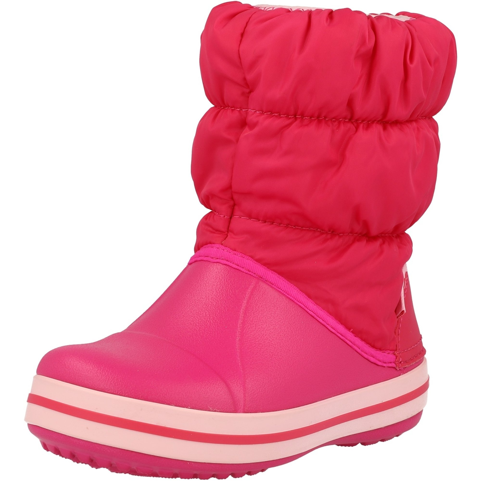 Crocs Kids Winter Puff Boot Candy Pink Nylon