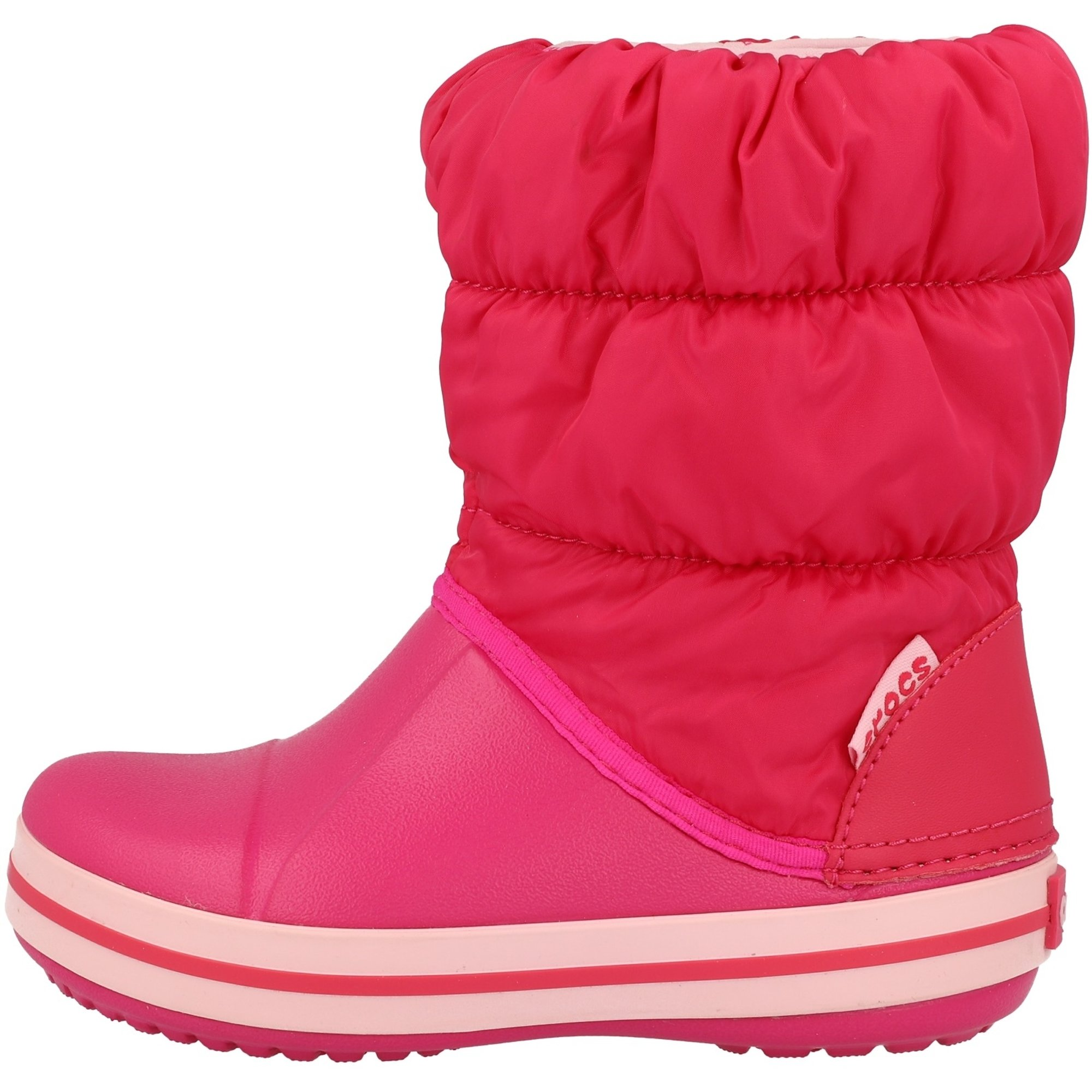 Crocs Kids Winter Puff Boot Candy Pink Nylon Infant