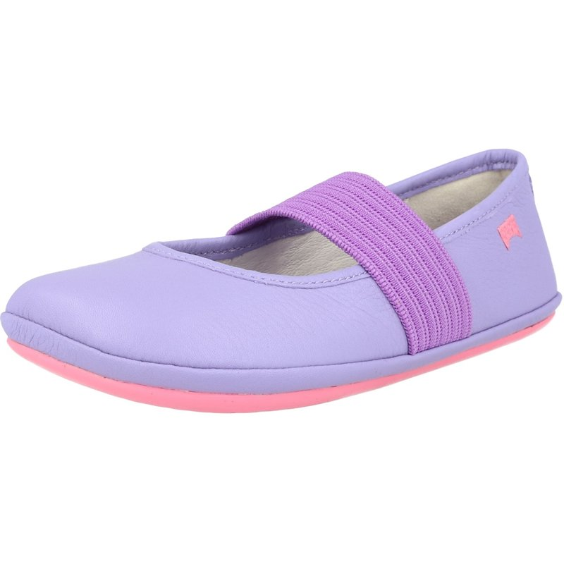 Camper Right Light Pastel Yellow Leather Infant Ballet Flats Shoes