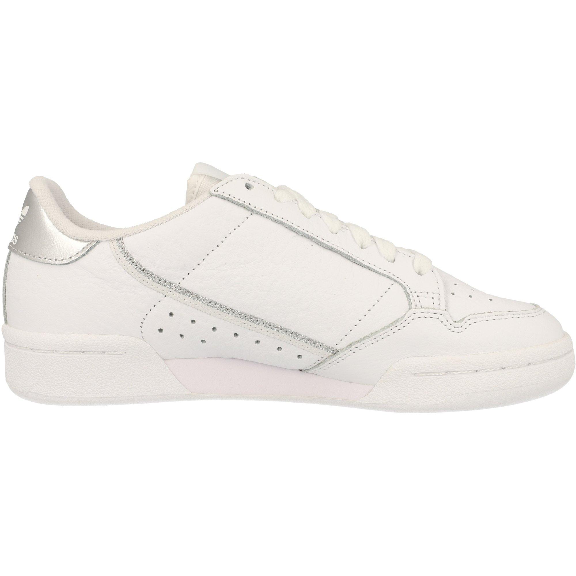 adidas Originals Continental 80 W BlancoPlata Metalizada Cuero Adulto