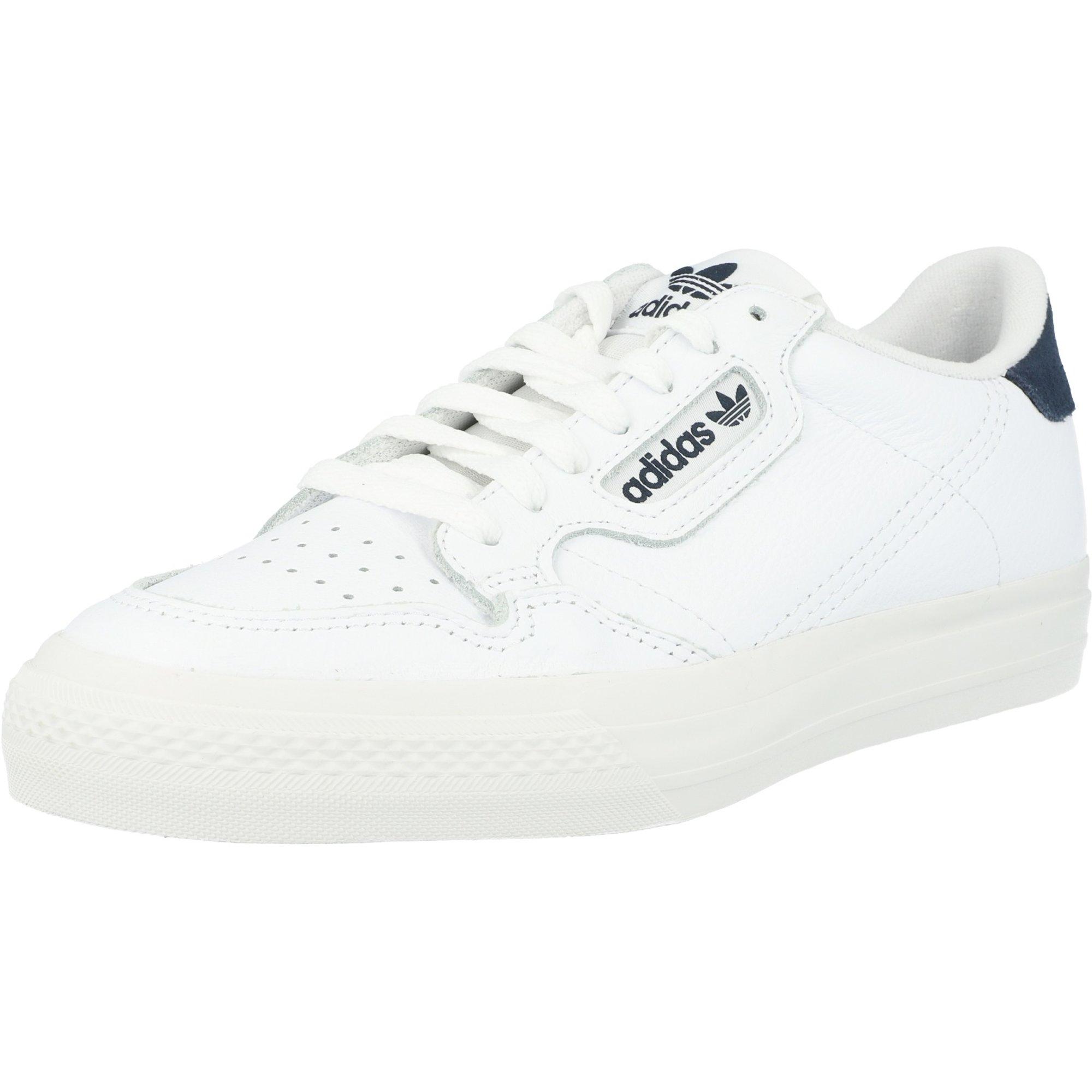 adidas Originals Continental Vulc J Wit/Blauw (White/Collegiate Navy) Leer  Volwassen