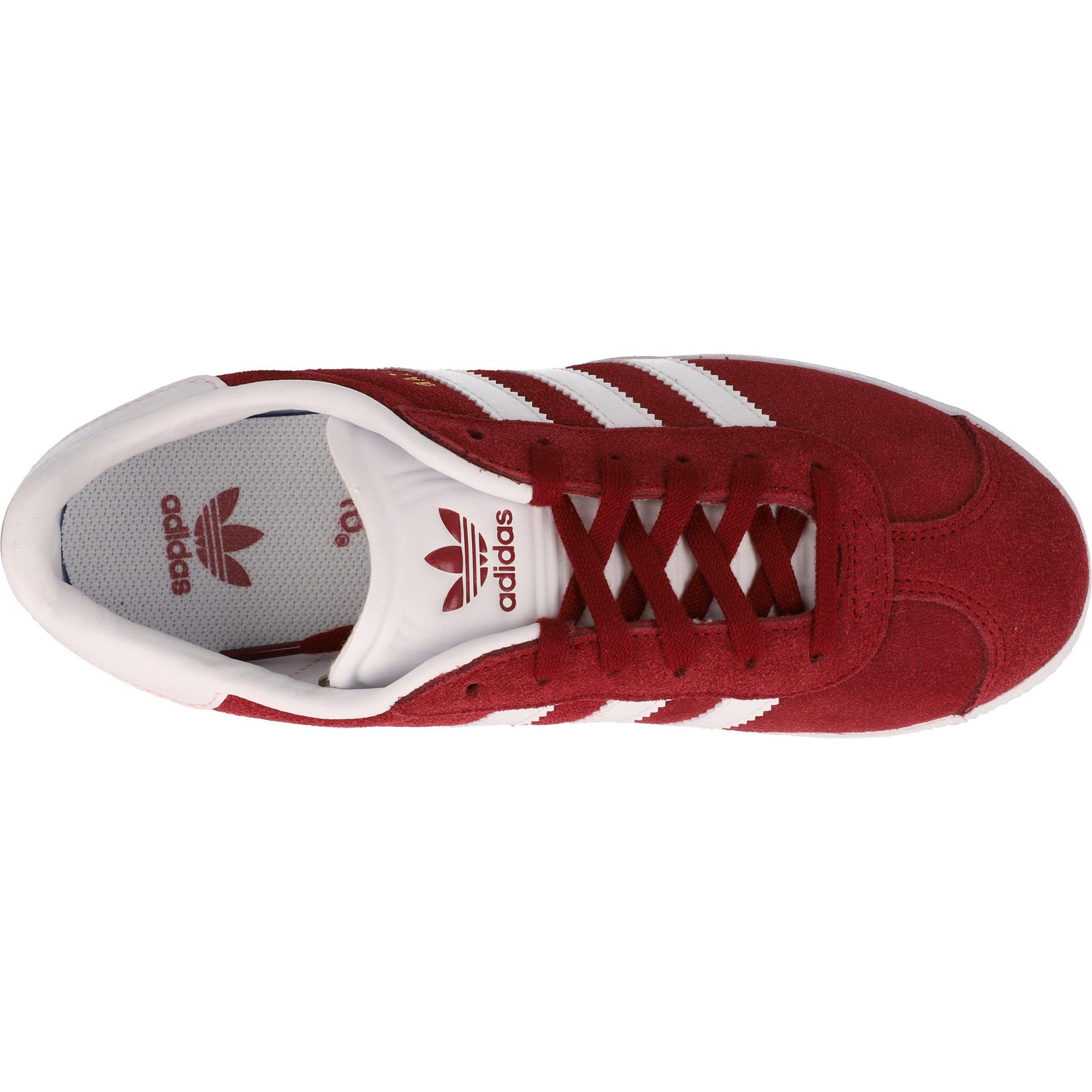 adidas gazelle burgundy junior