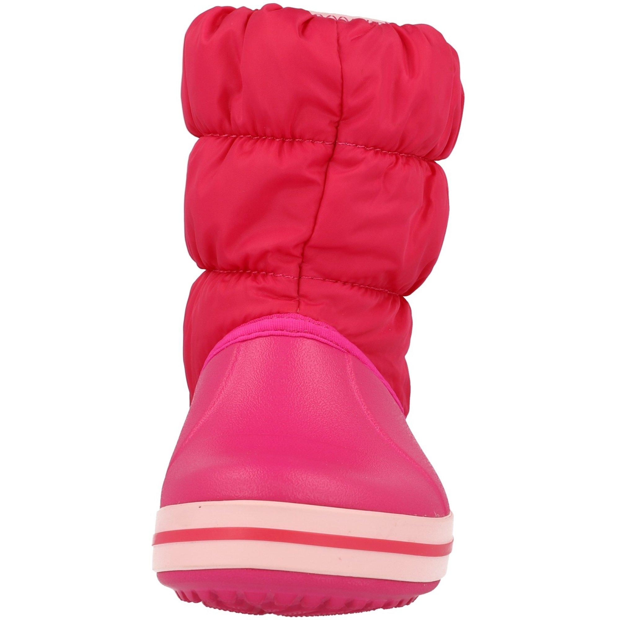 Crocs Kids Winter Puff Boot Candy Pink Nylon Infant