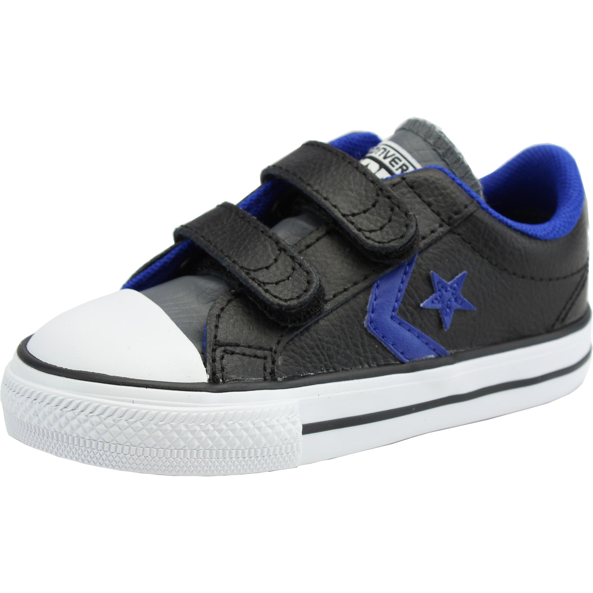 Converse Star Player EV OX Infants Toddlers Babies Casual Retro Trainers Black