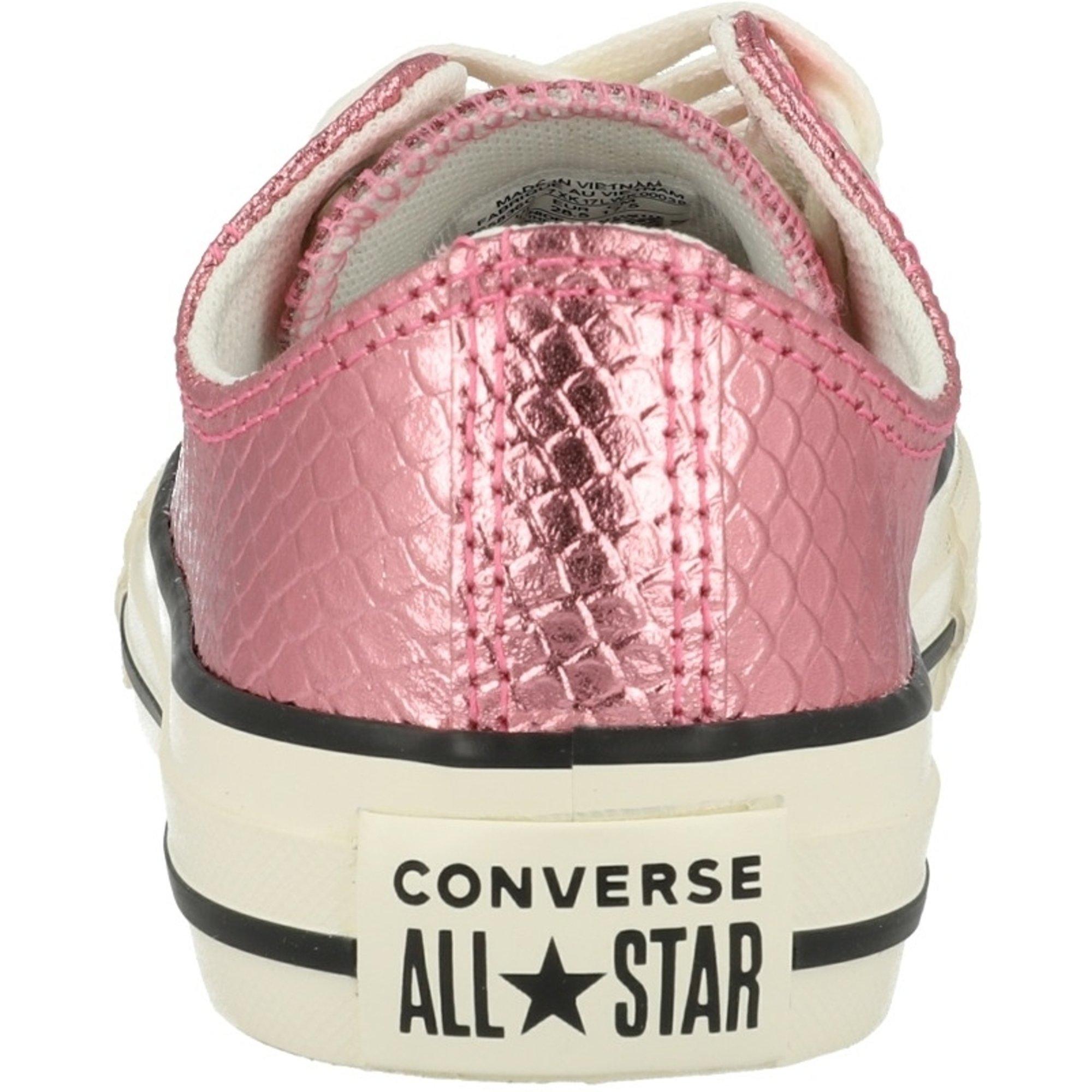 Converse Chuck Taylor All Star Metallic Snake Ox Plum Chalk Textile Junior